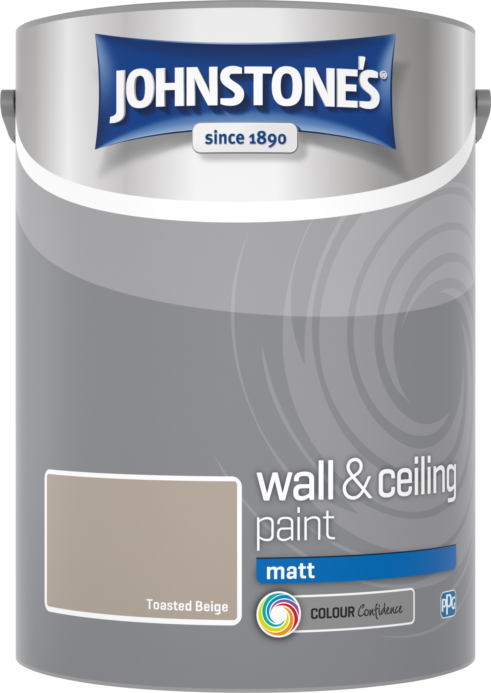 Johnstone's 304060 5 Litre Matt Emulsion Paint - Toasted Beige