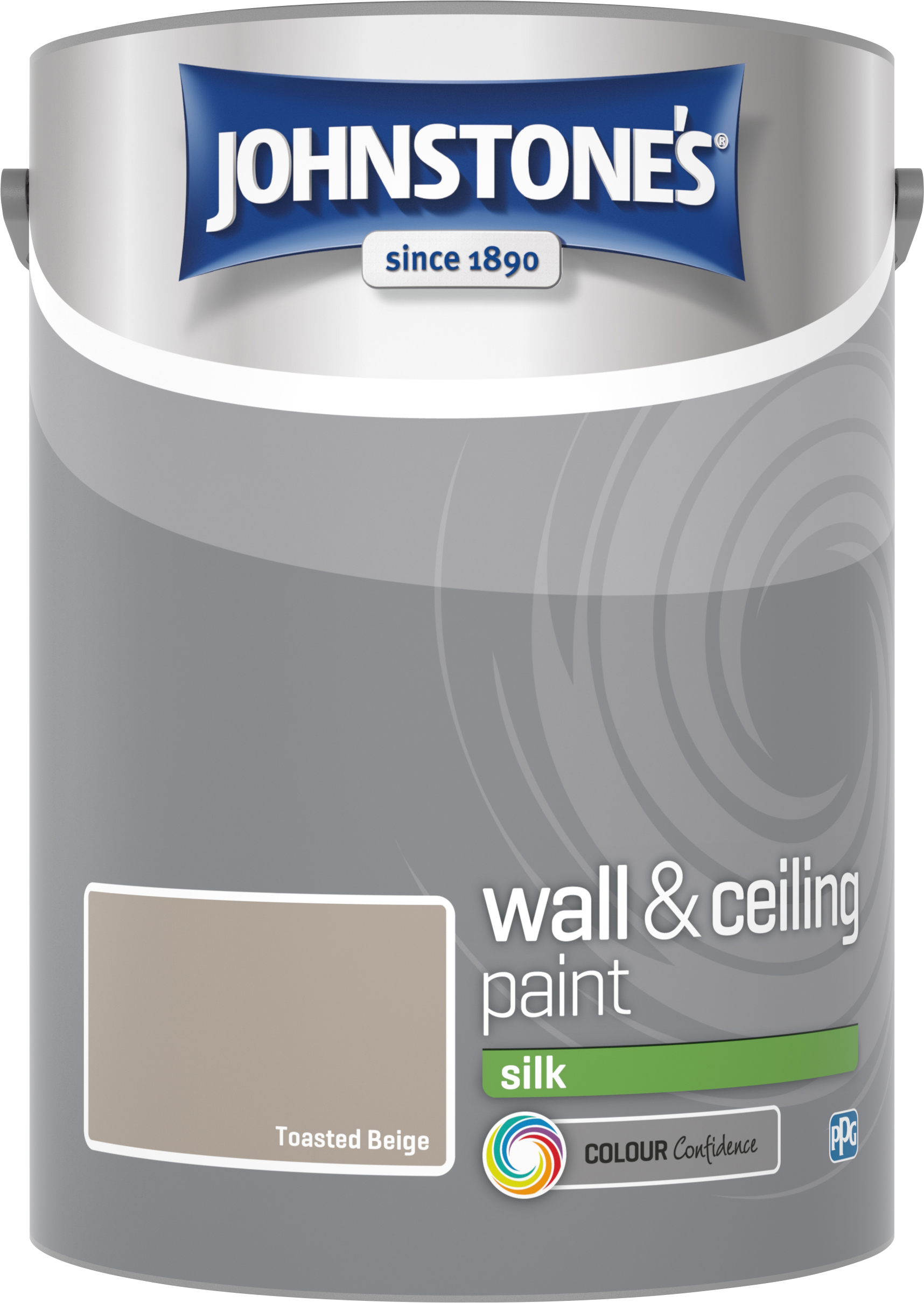 Johnstone's 304090 5 Litre Silk Emulsion Paint - Toasted Beige