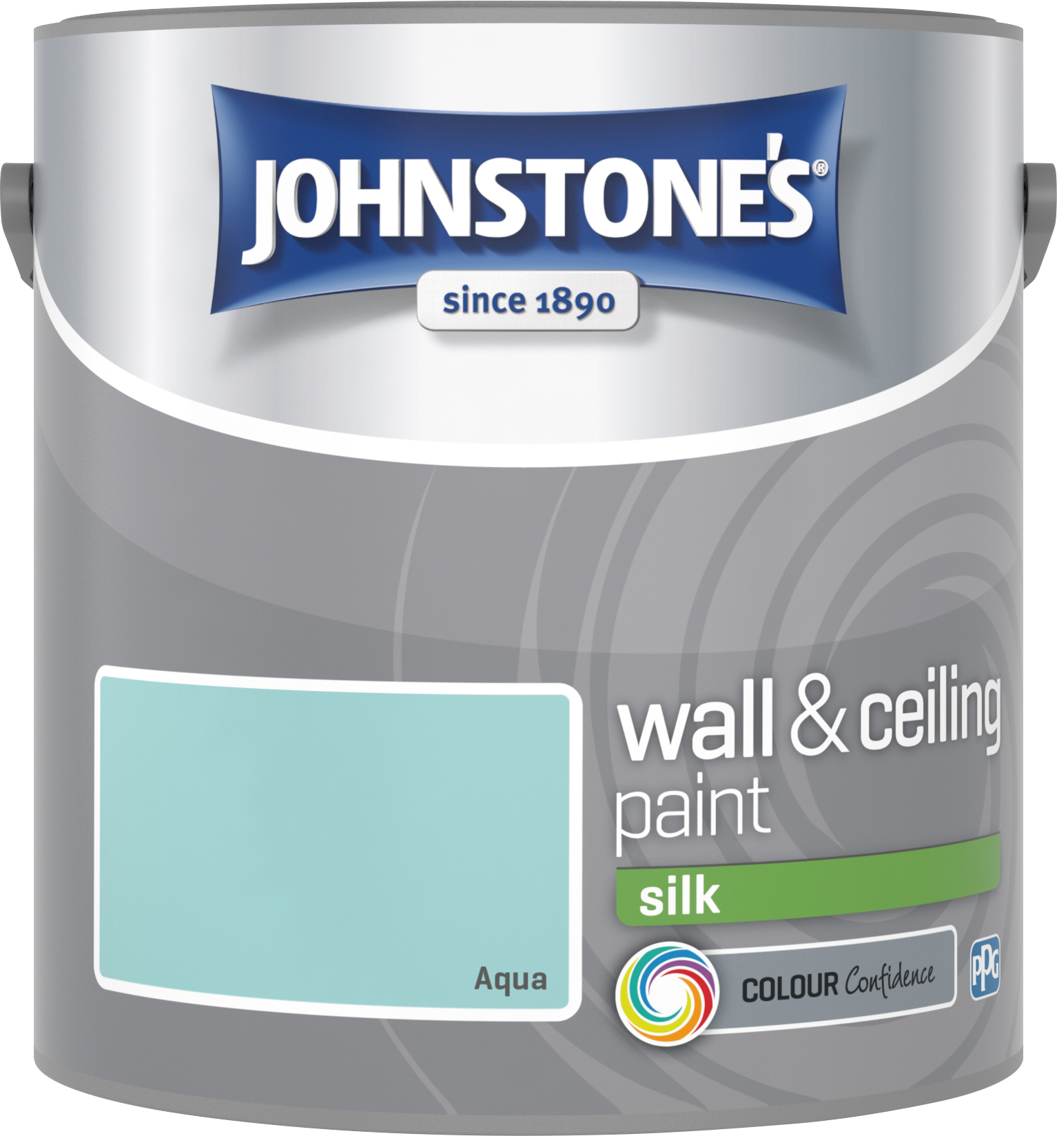Johnstone's 304094 2.5 Litre Silk Emulsion Paint - Aqua
