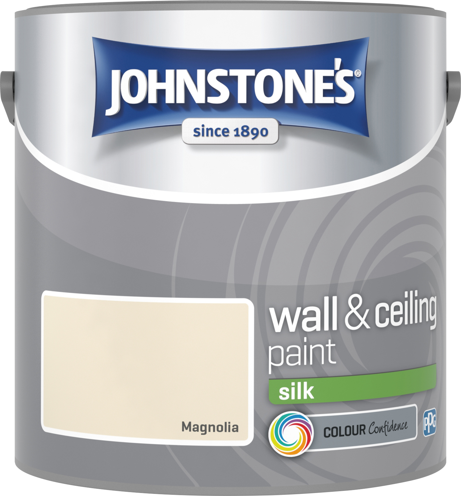 Johnstone's 304110 2.5 Litre Silk Emulsion Paint - Magnolia