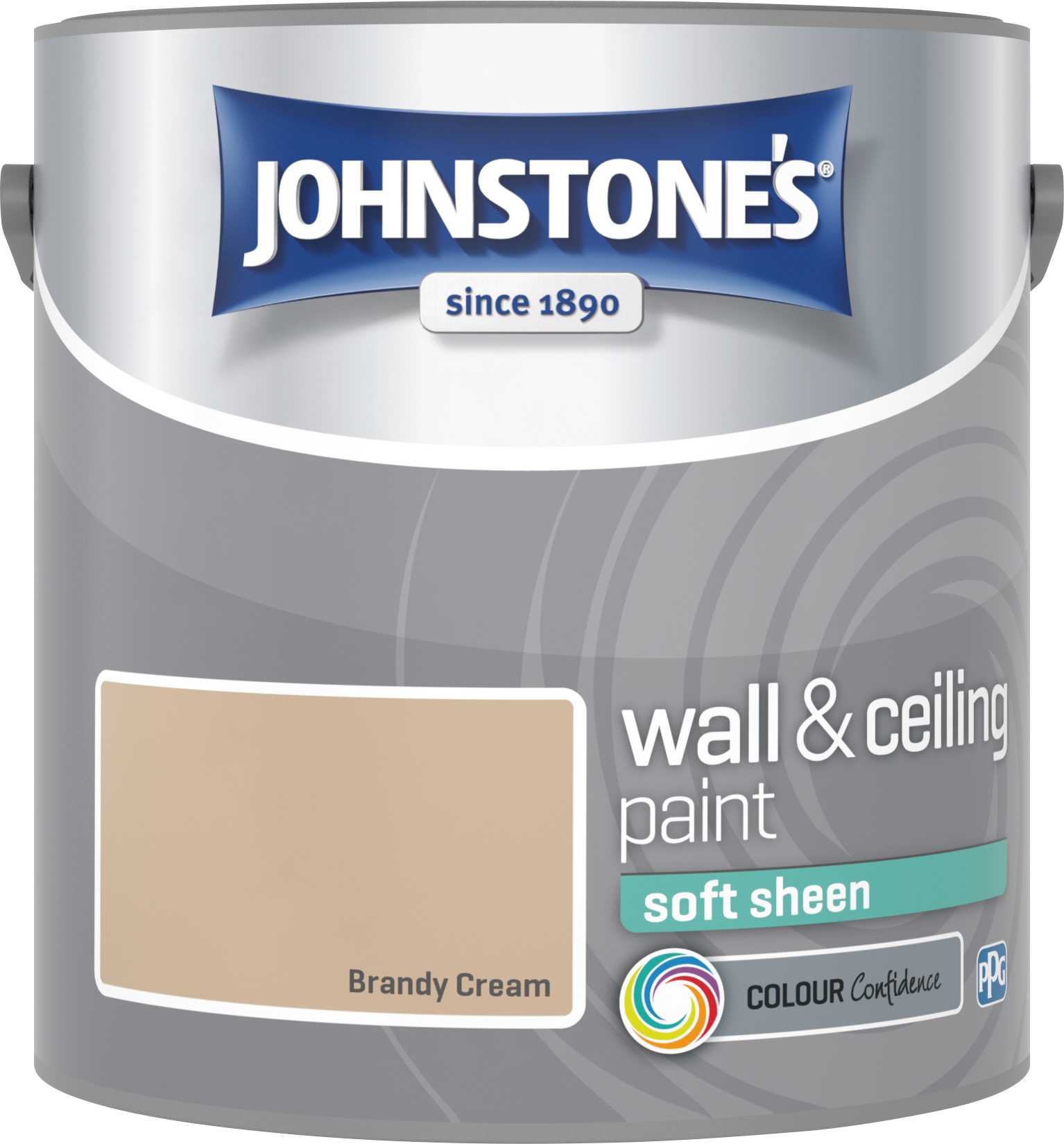 Johnstone's 304135 2.5 Litre Soft Sheen Emulsion Paint - Brandy Cream