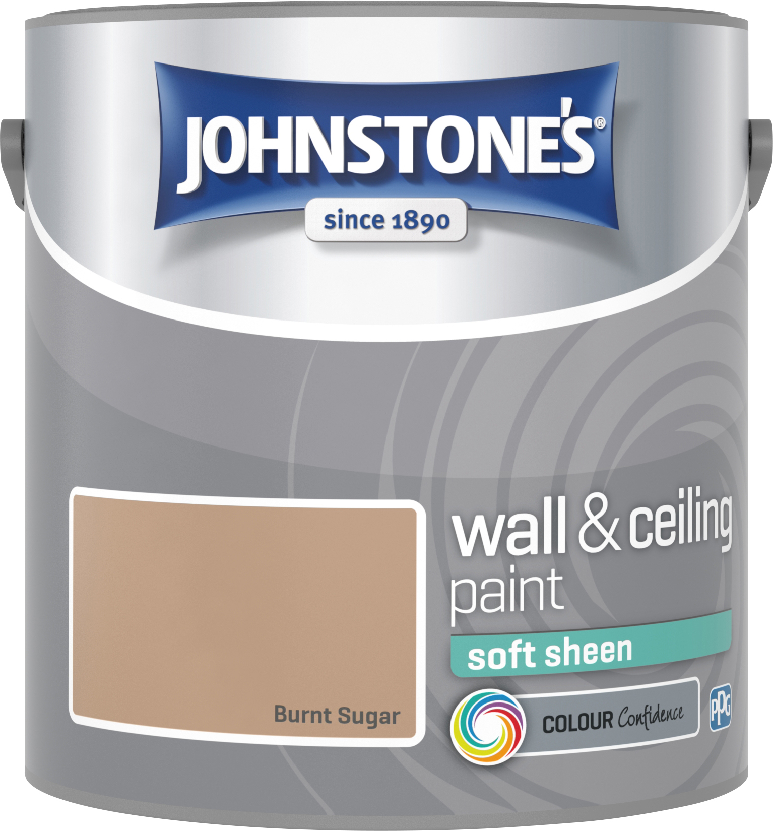 Johnstone's 304136 2.5 Litre Soft Sheen Emulsion Paint - Burnt Sugar