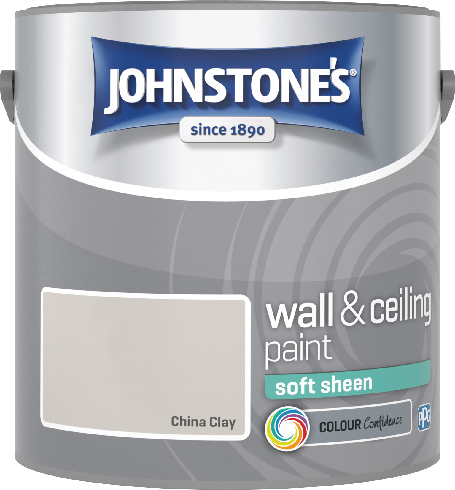 Johnstone's 304137 2.5 Litre Soft Sheen Emulsion Paint - China Clay