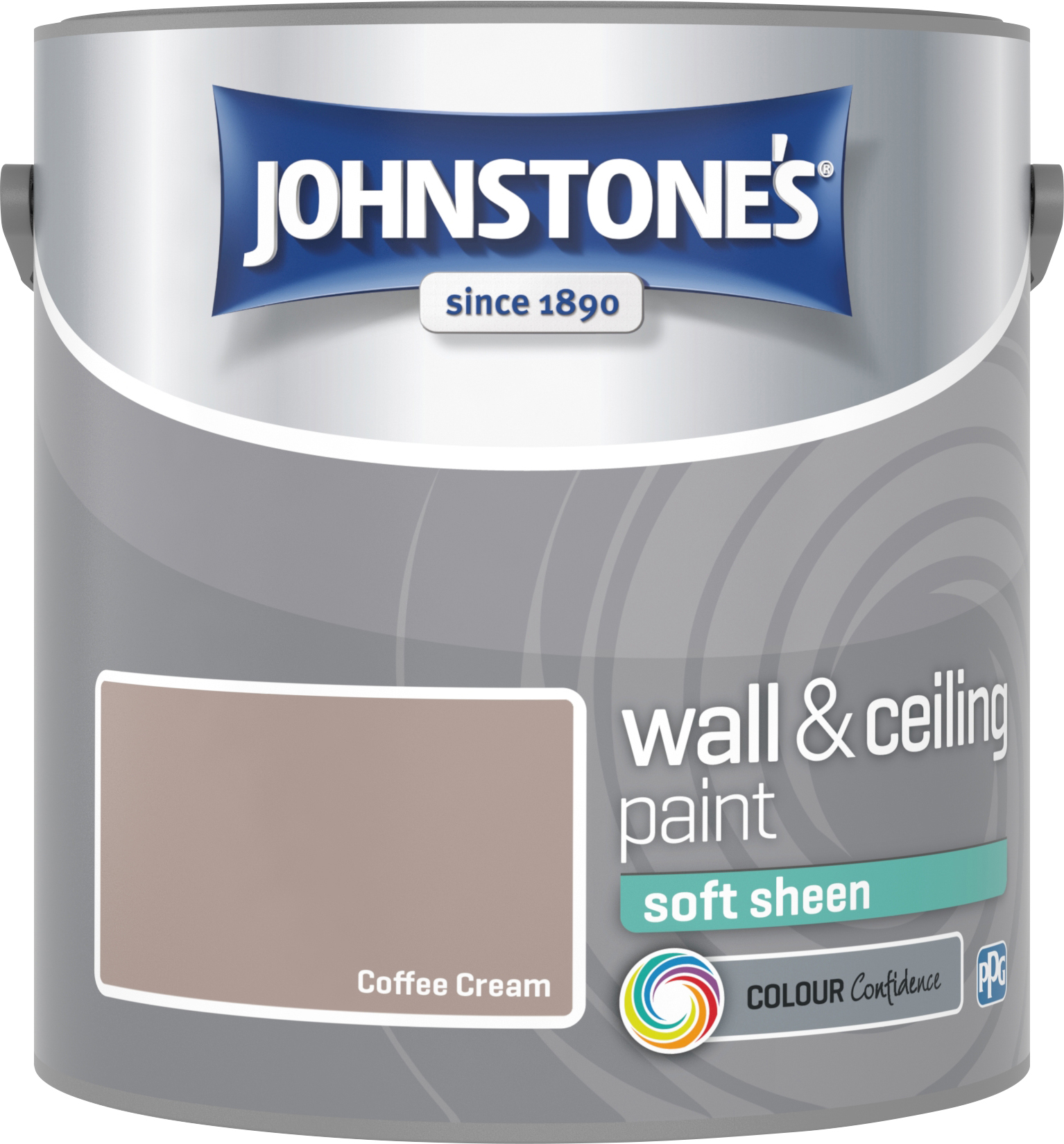 Johnstone's 304139 2.5 Litre Soft Sheen Emulsion Paint - Coffee Cream