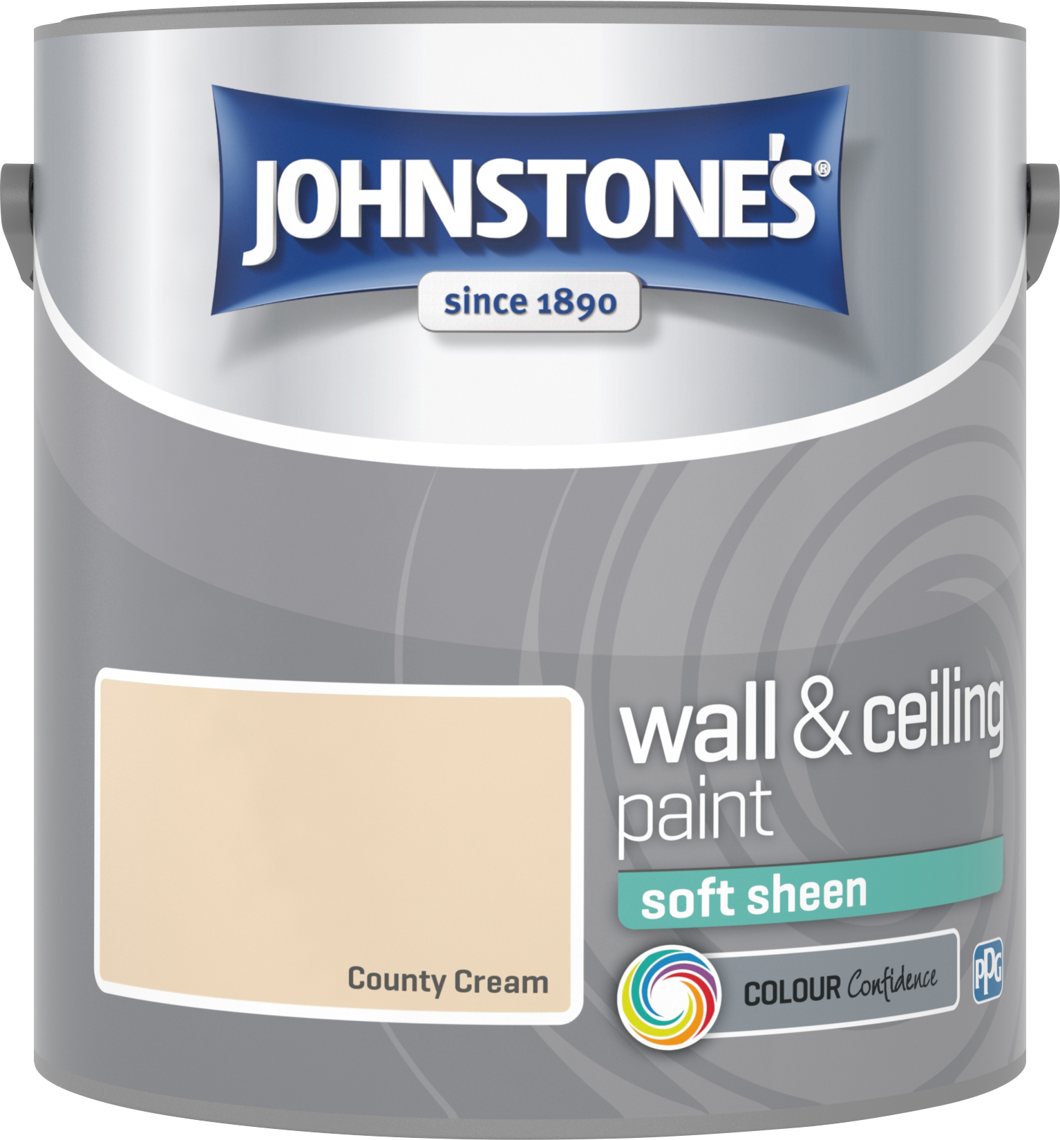 Johnstone's 304140 2.5 Litre Soft Sheen Emulsion Paint - County Cream