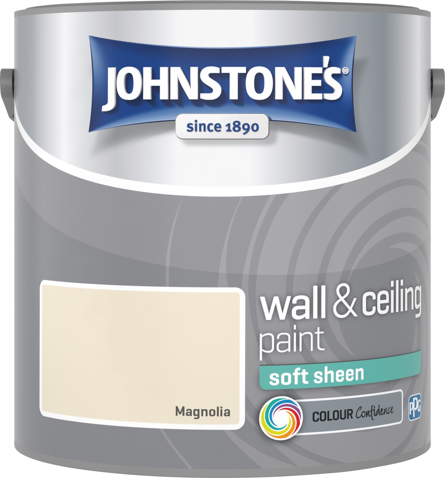 Johnstone's 304149 2.5 Litre Soft Sheen Emulsion Paint - Magnolia