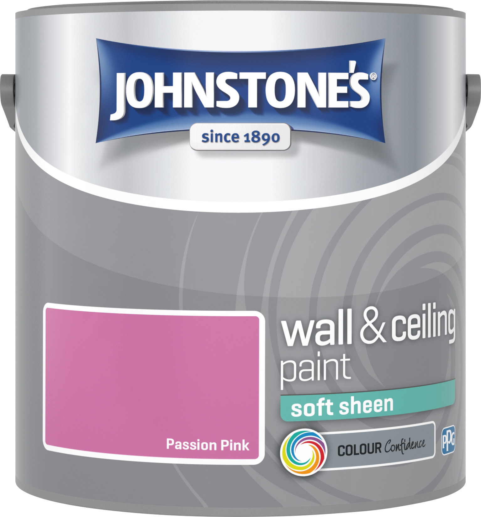 Johnstone's 304153 2.5 Litre Soft Sheen Emulsion Paint - Passion Pink