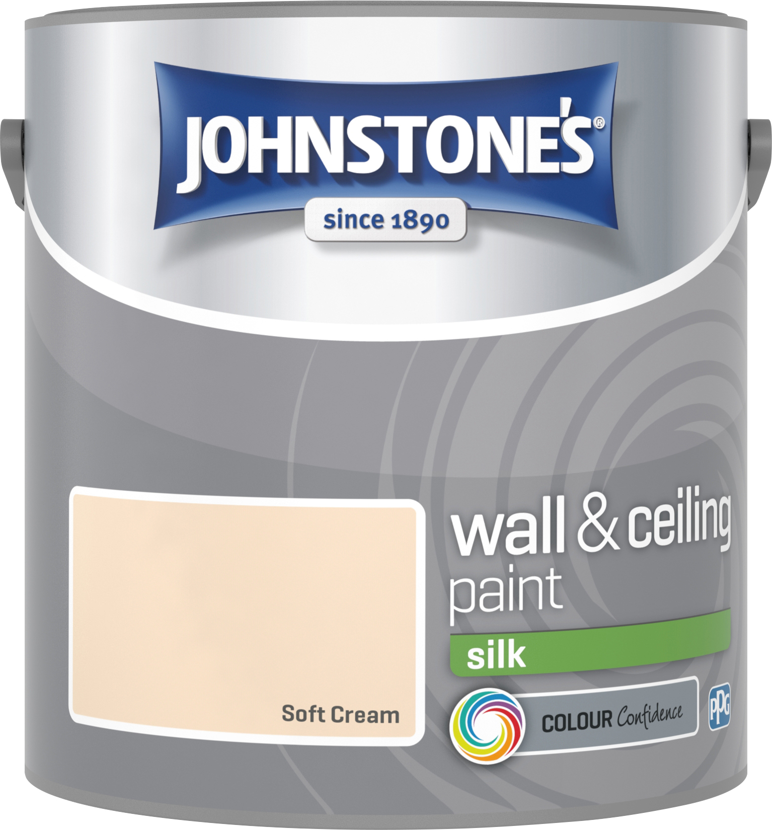 Johnstone's 304160 2.5 Litre Silk Emulsion Paint - Soft Cream