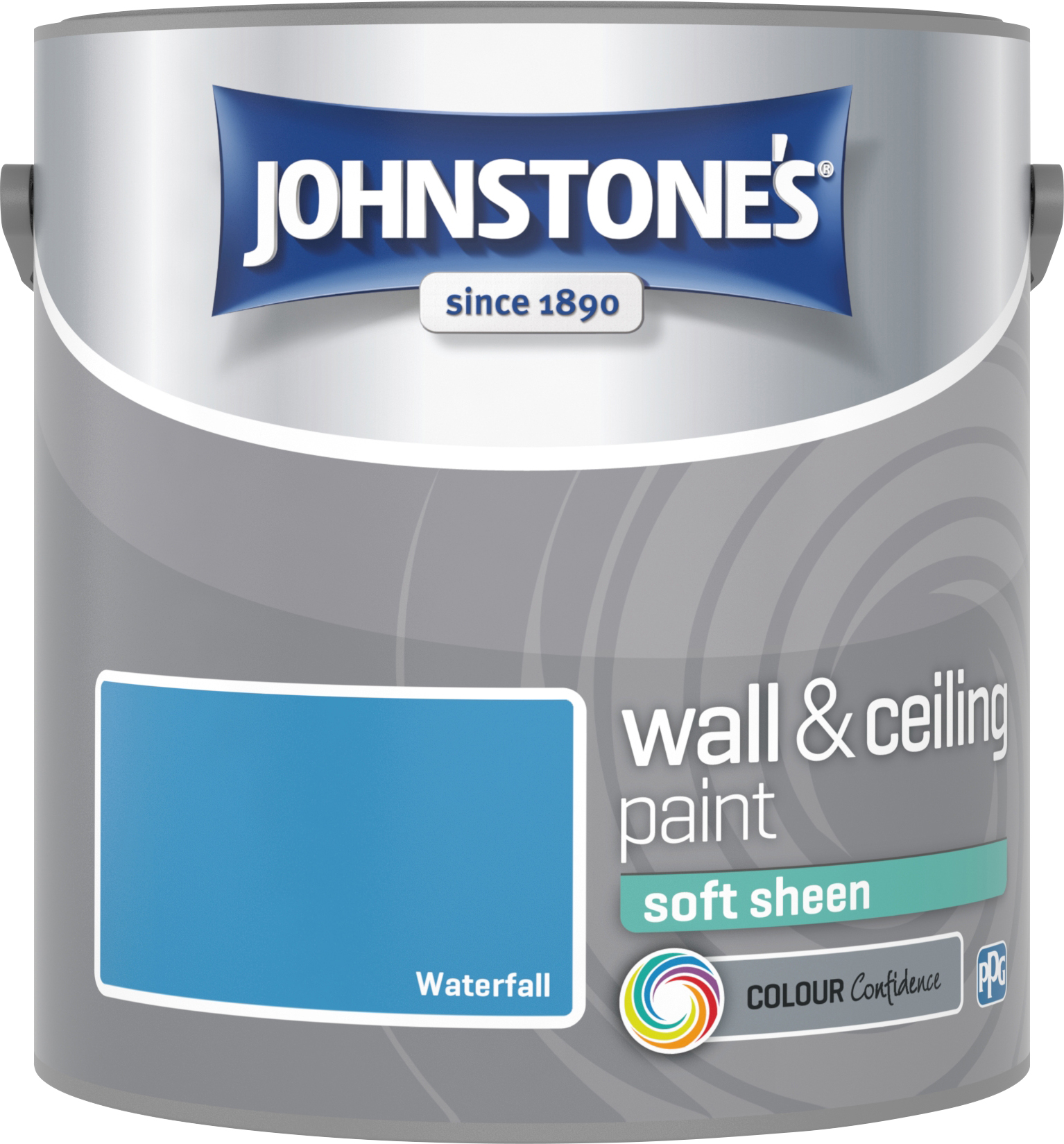 Johnstone's 304175 2.5 Litre Soft Sheen Emulsion Paint - Waterfall