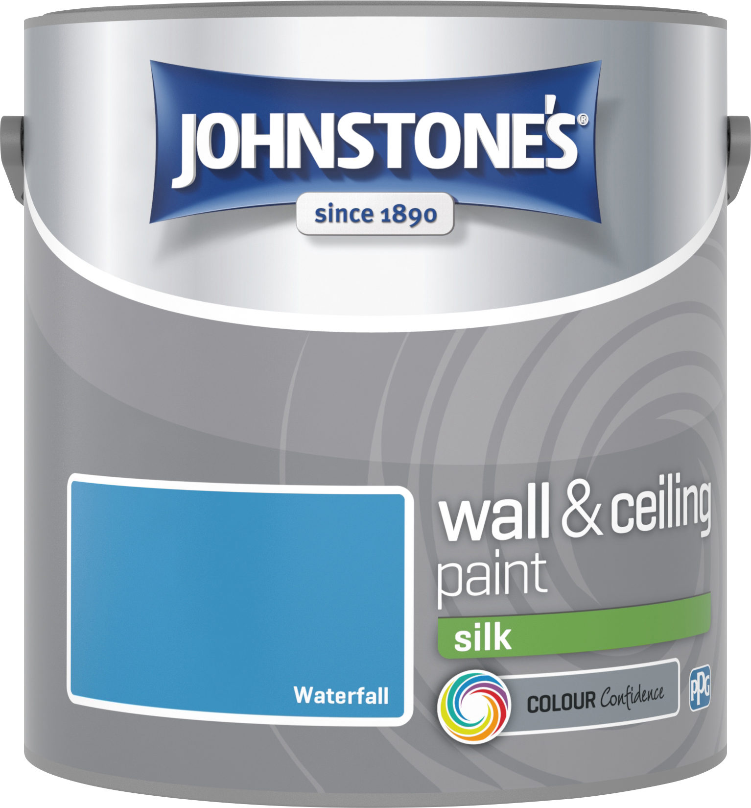 Johnstone's 304178 2.5 Litre Silk Emulsion Paint - Waterfall