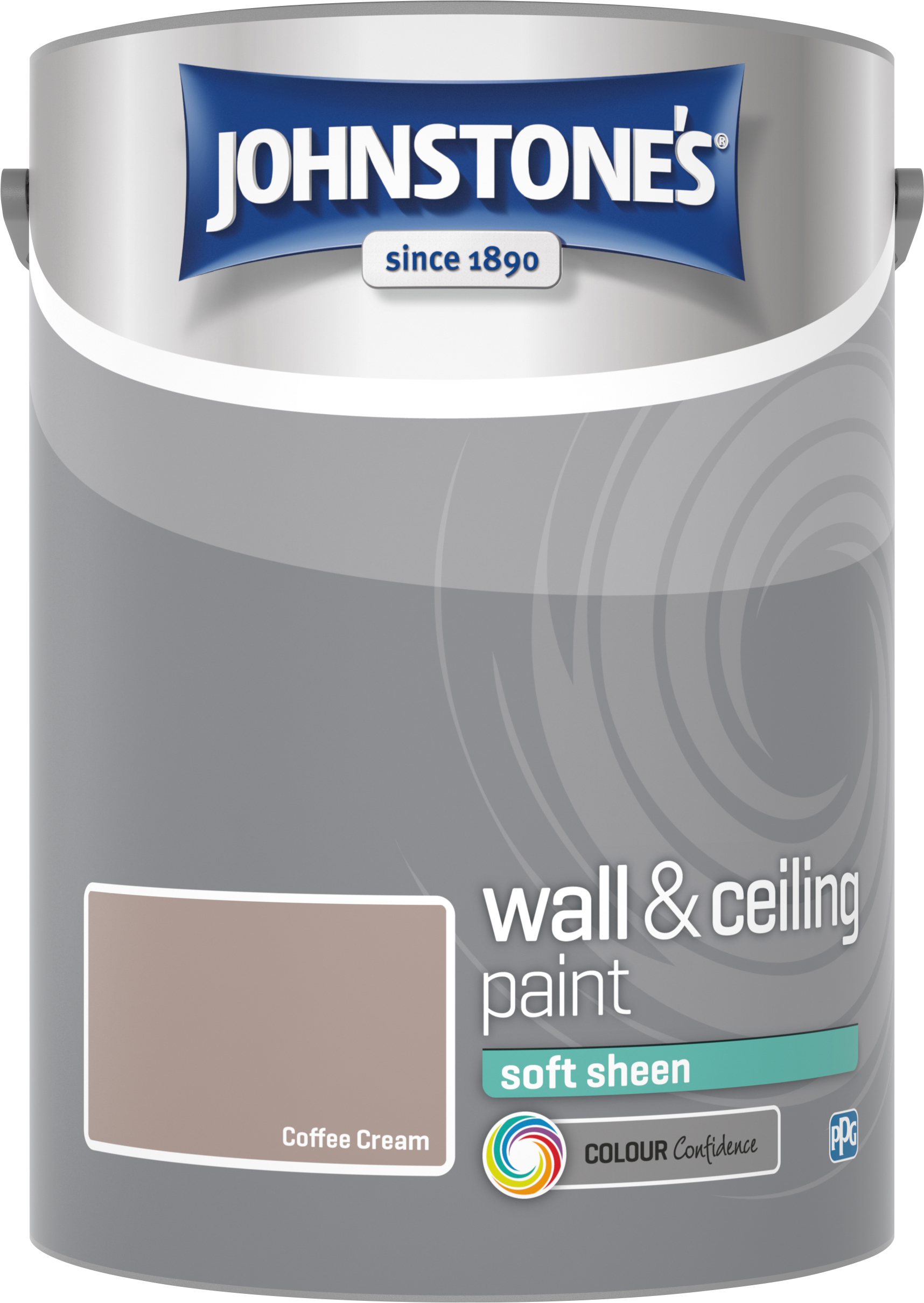Johnstone's 304186 5 Litre Soft Sheen Emulsion Paint - Coffee Cream