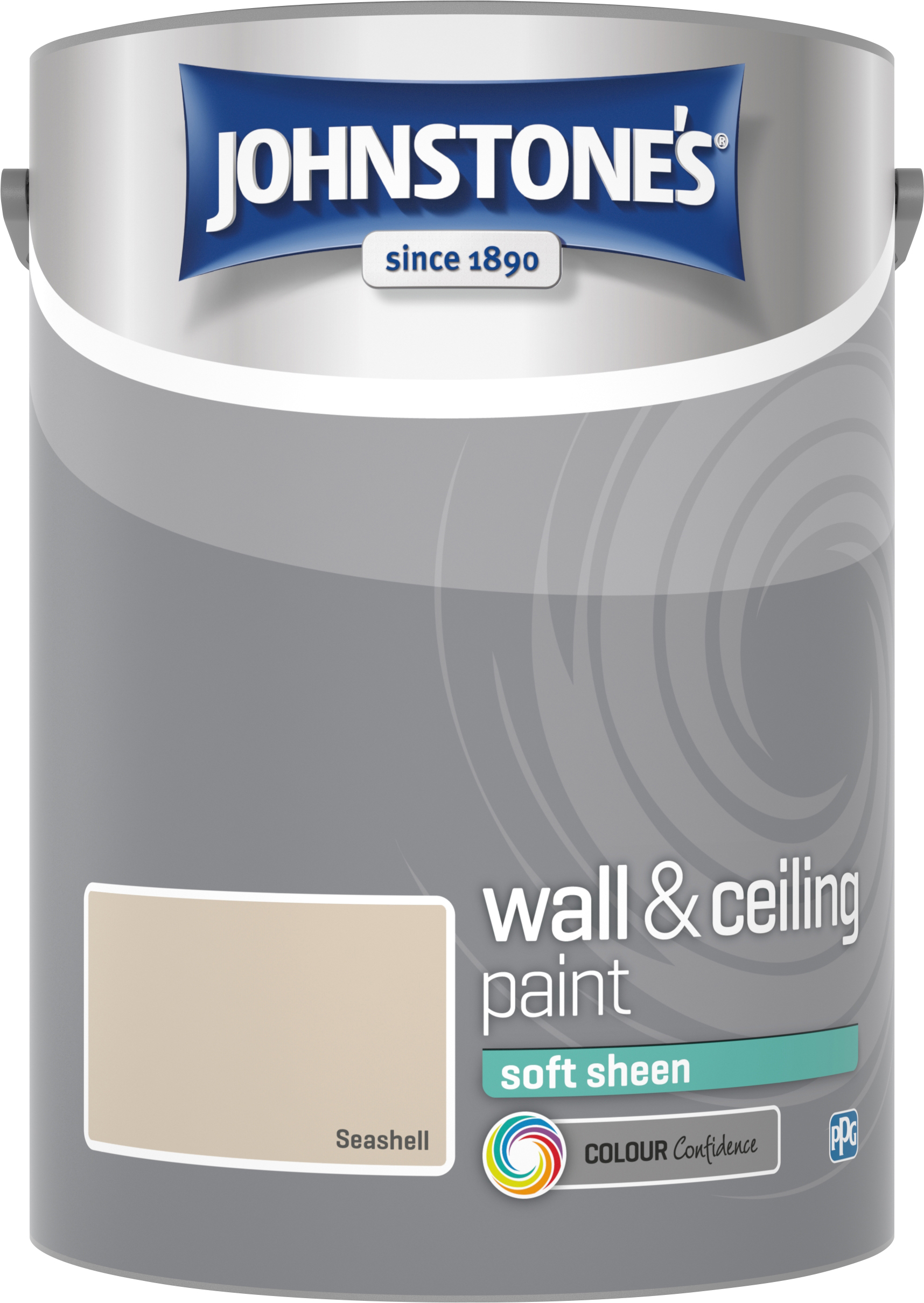 Johnstone's 304192 5 Litre Soft Sheen Emulsion Paint - Seashell