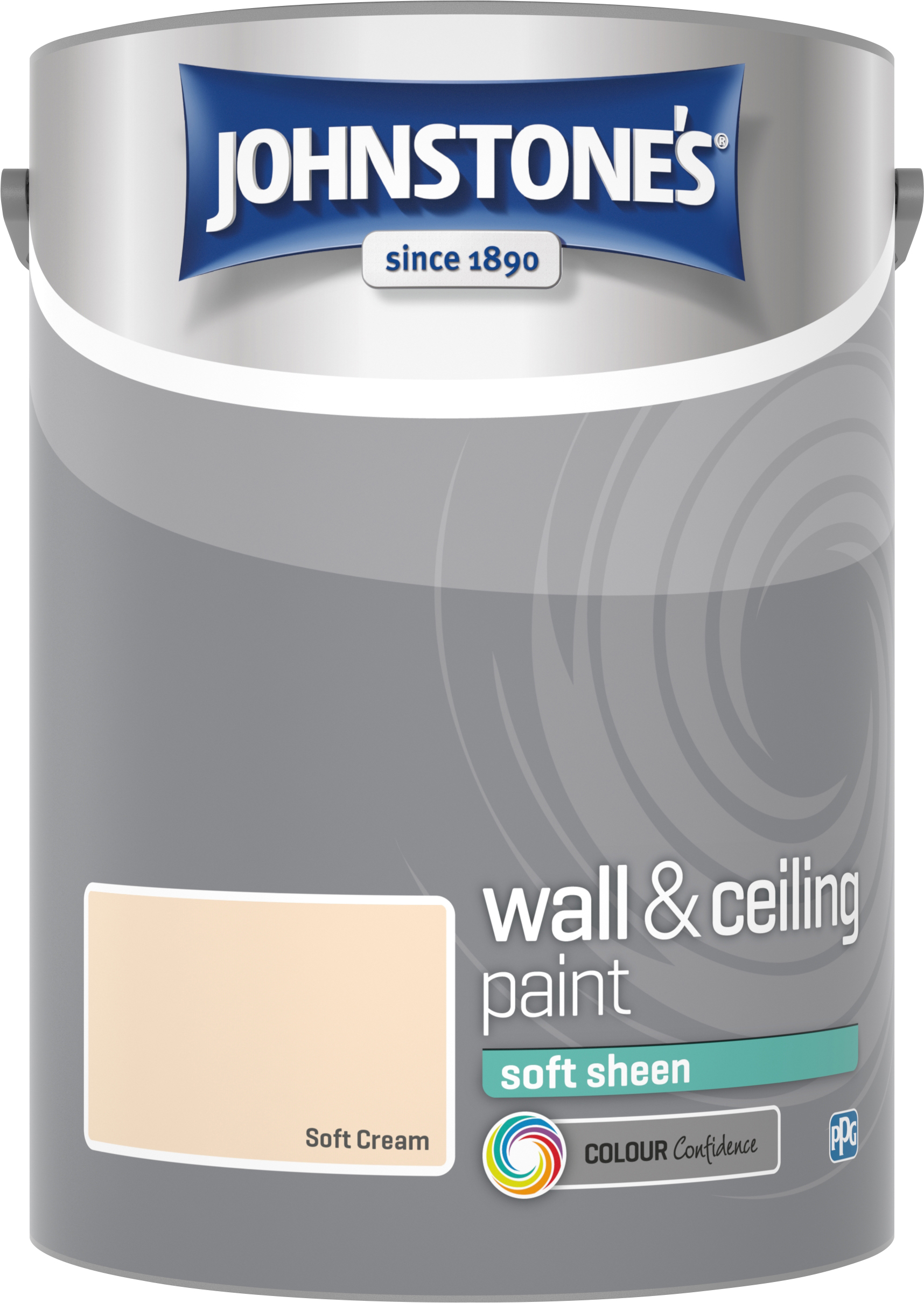 Johnstone's 304193 5 Litre Soft Sheen Emulsion Paint - Soft Cream