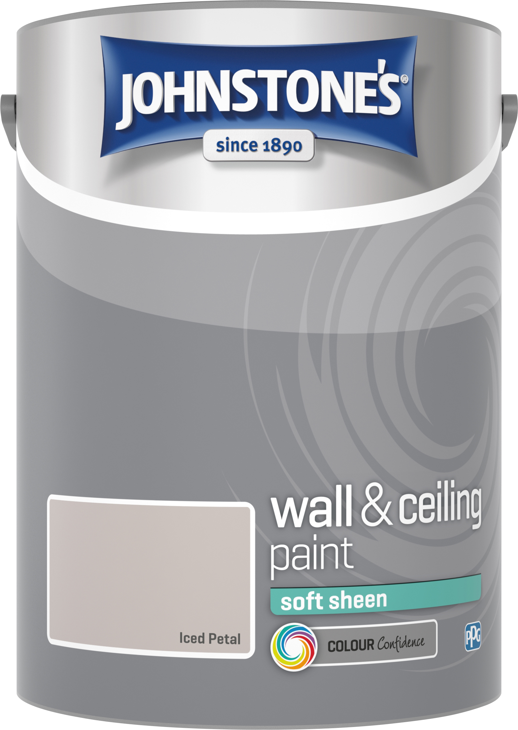Johnstone's 304194 5 Litre Soft Sheen Emulsion Paint - Iced Petal