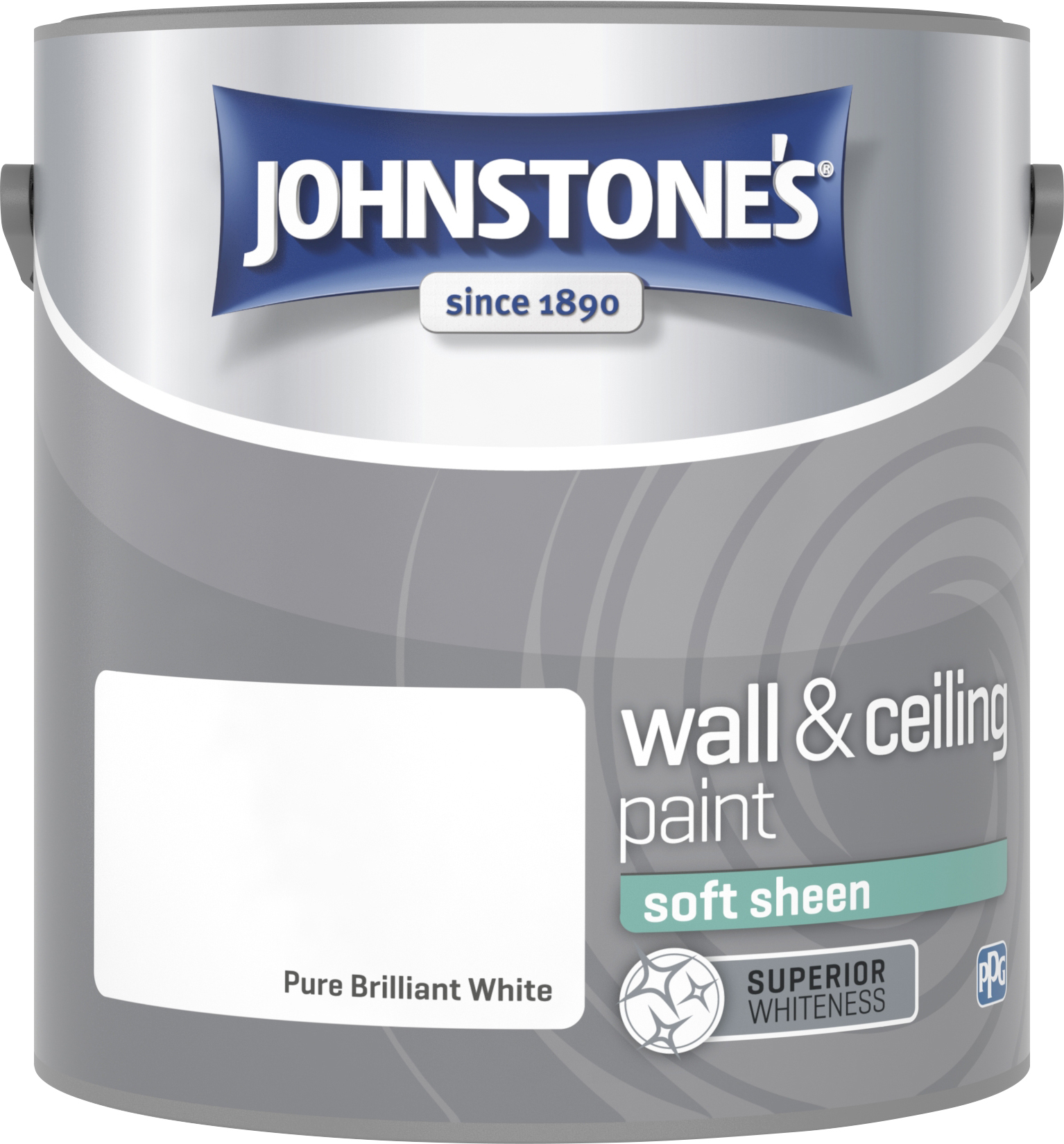 Johnstone's 304198 2.5 Litre Soft Sheen Emulsion Paint - Brilliant White