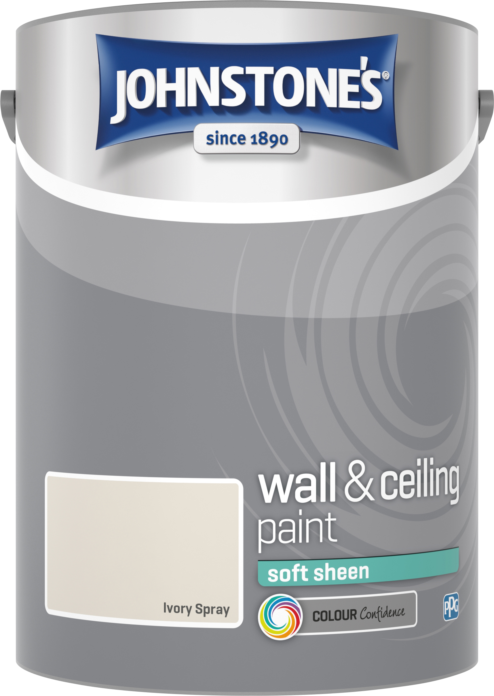 Johnstone's 304282 5 Litre Soft Sheen Emulsion Paint - Ivory Spray