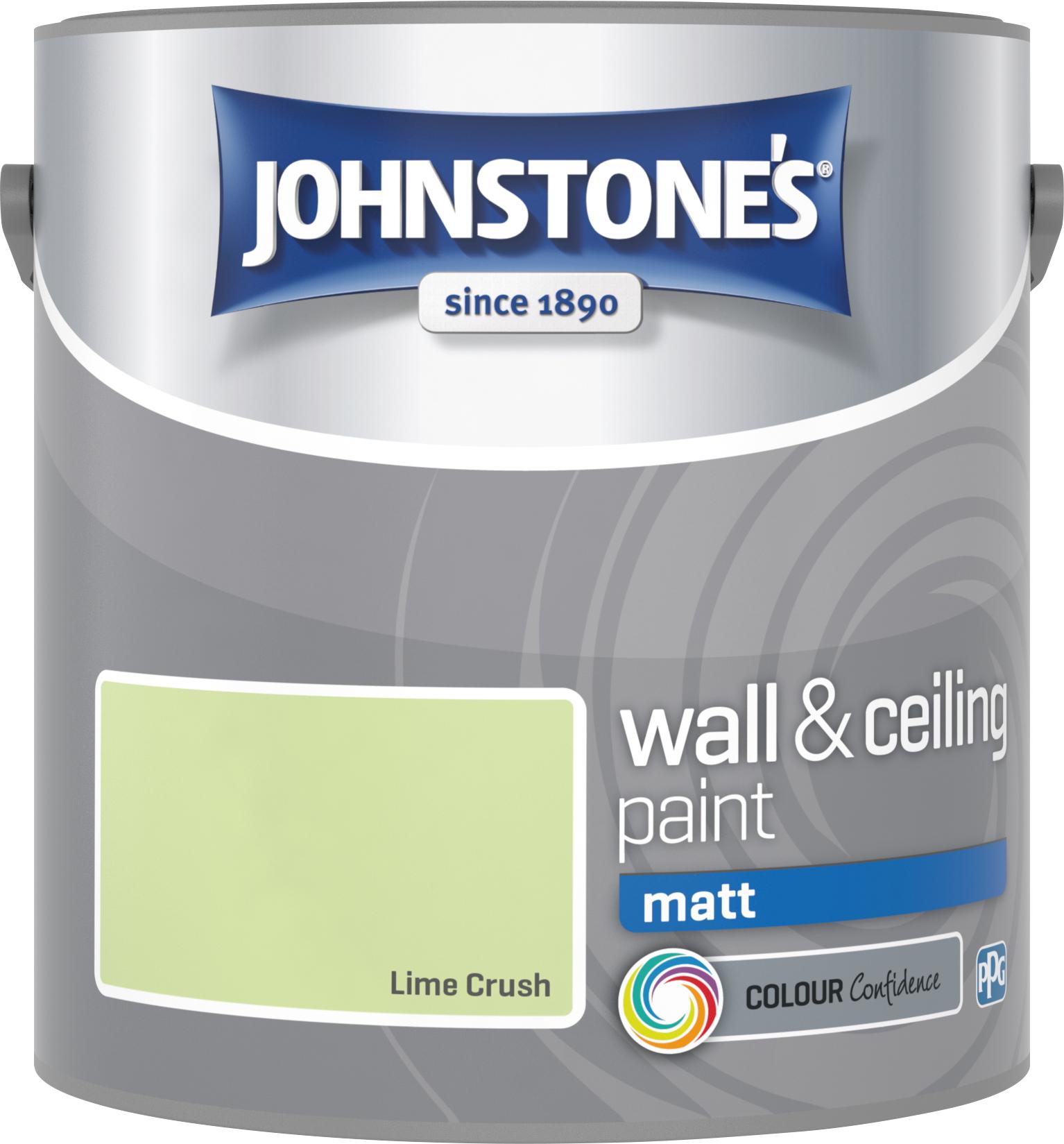 Johnstone's 305979 2.5 Litre Matt Emulsion Paint - Lime Crush
