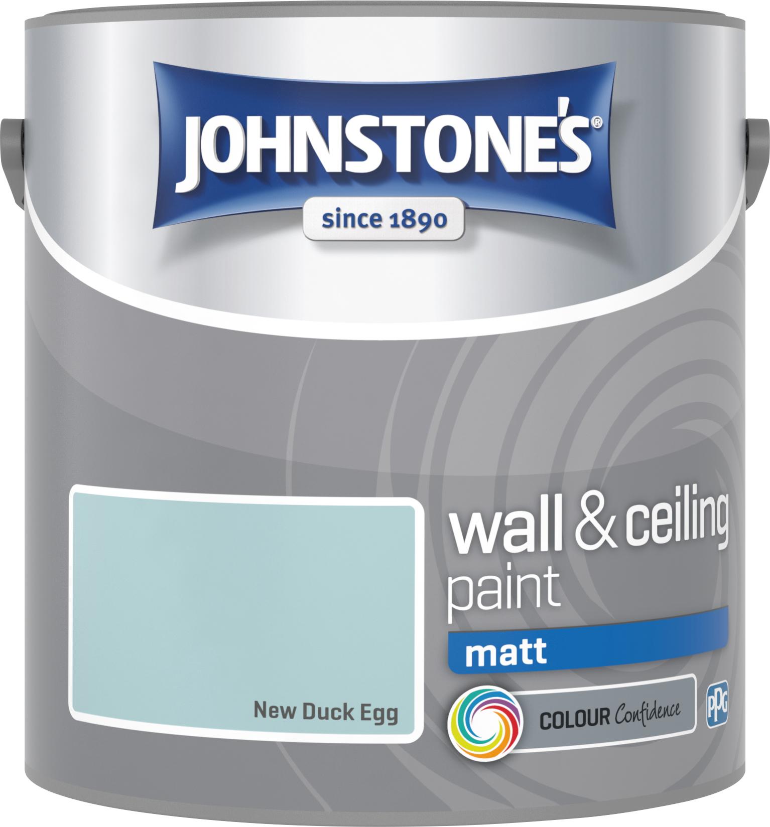 Johnstone's 305980 2.5 Litre Matt Emulsion Paint - Duck Egg