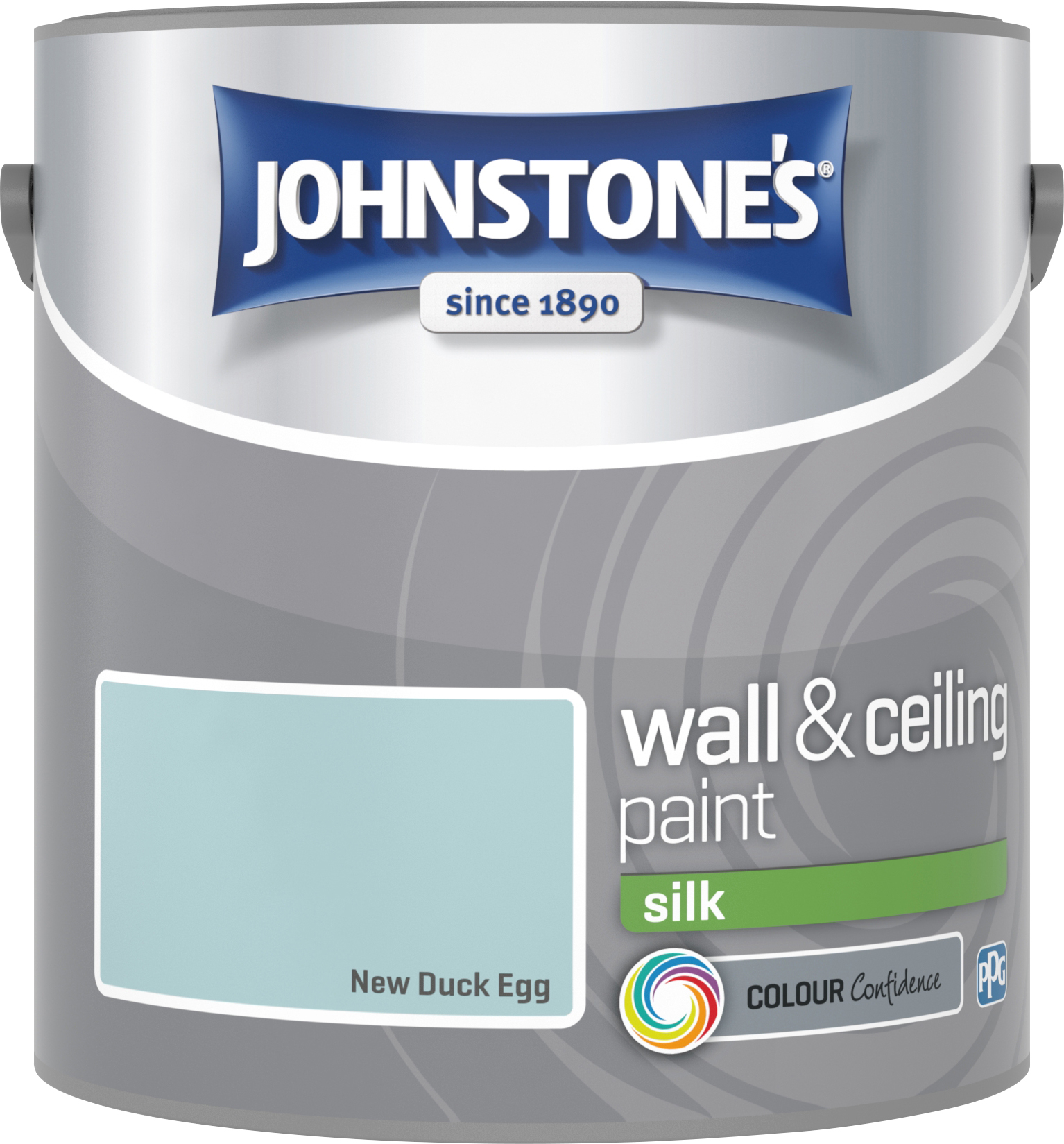 Johnstone's 305984 2.5 Litre Silk Emulsion Paint - Duck Egg