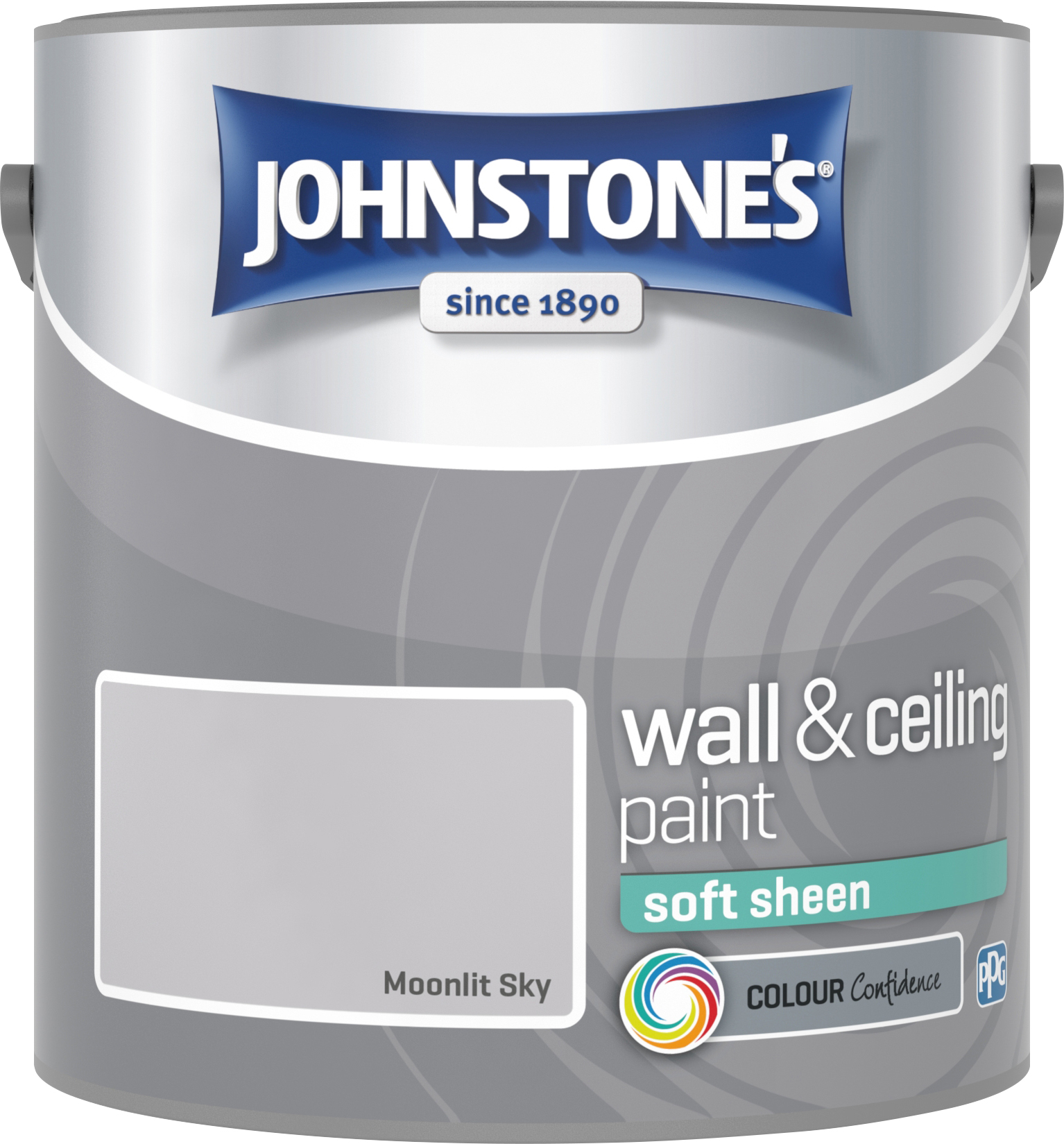 Johnstone's 305985 2.5 Litre Soft Sheen Emulsion - Moonlit Sky