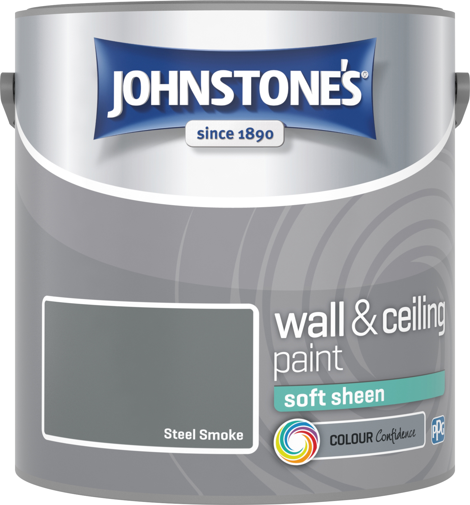 Johnstone's 305986 2.5 Litre Soft Sheen Emulsion Paint - Steel Smoke