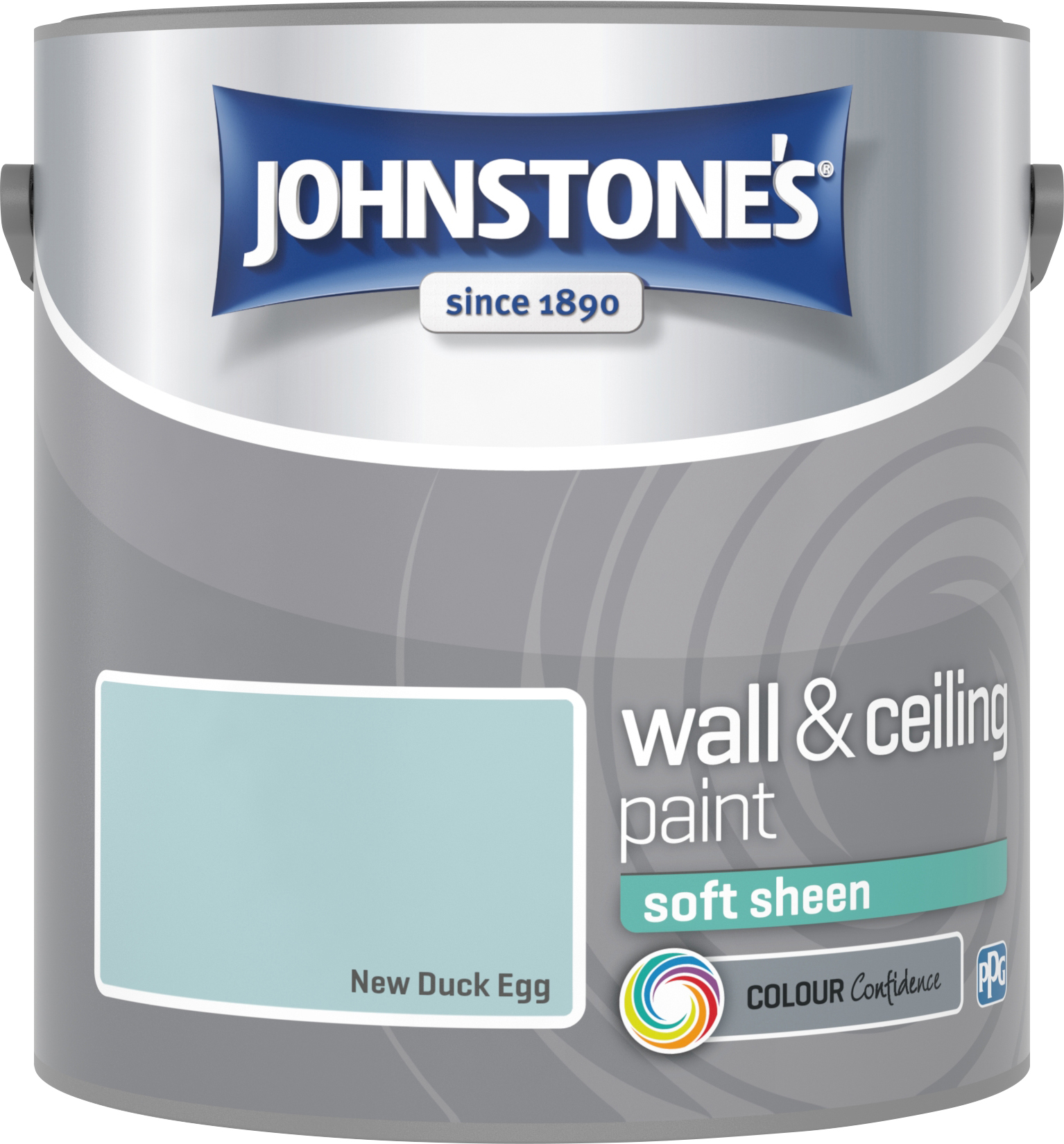 Johnstone's 305988 2.5 Litre Soft Sheen Emulsion - Duck Egg