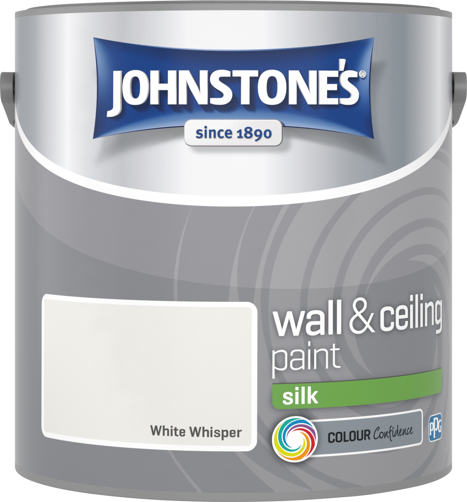 Johnstone's 306063 2.5 Litre Silk Emulsion Paint - White Whisper