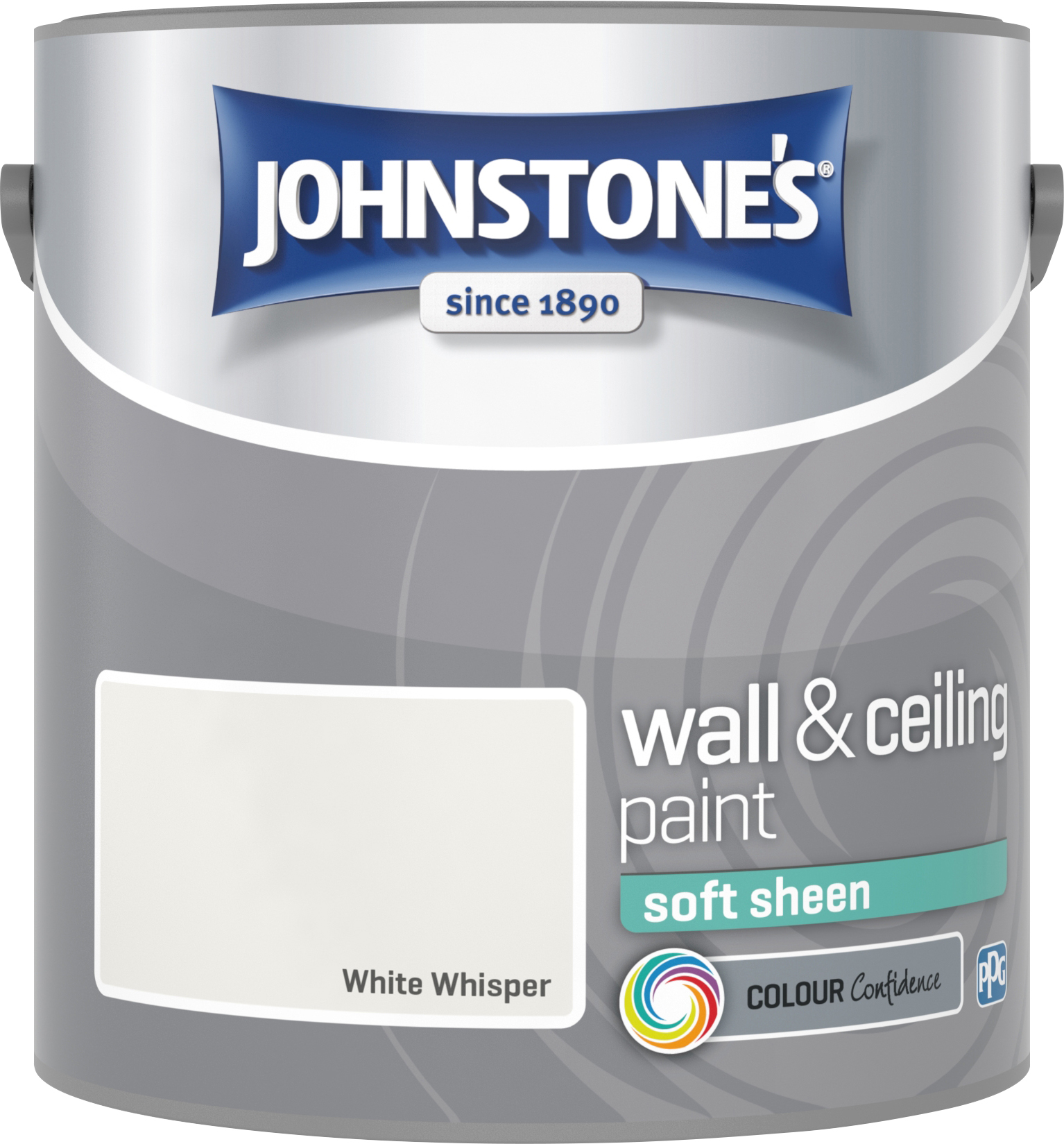 Johnstone's 306065 2.5 Litre Soft Sheen Emulsion Paint - White Whisper