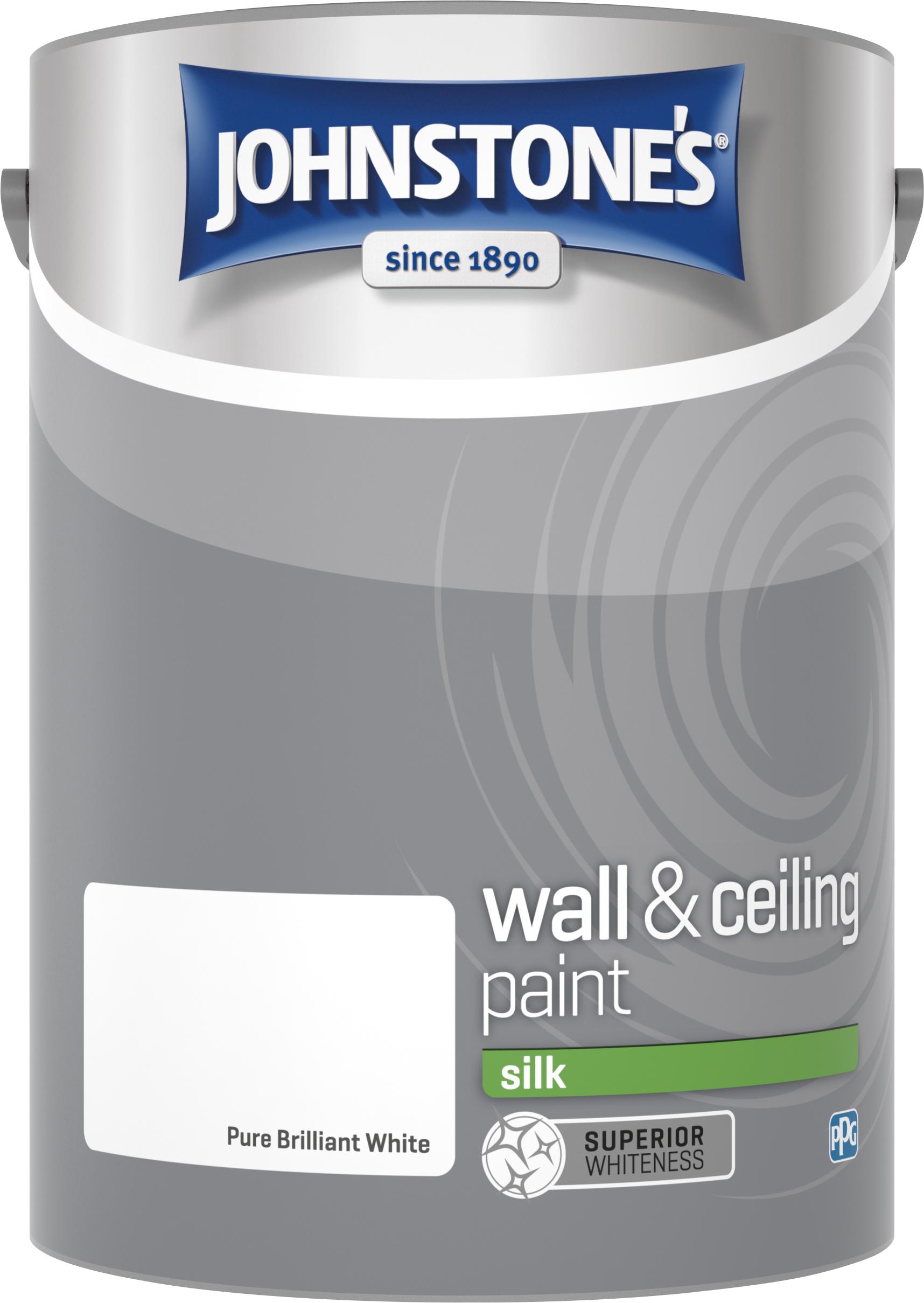 Johnstone's 306570 5 Litre Silk Emulsion Paint - Brilliant White