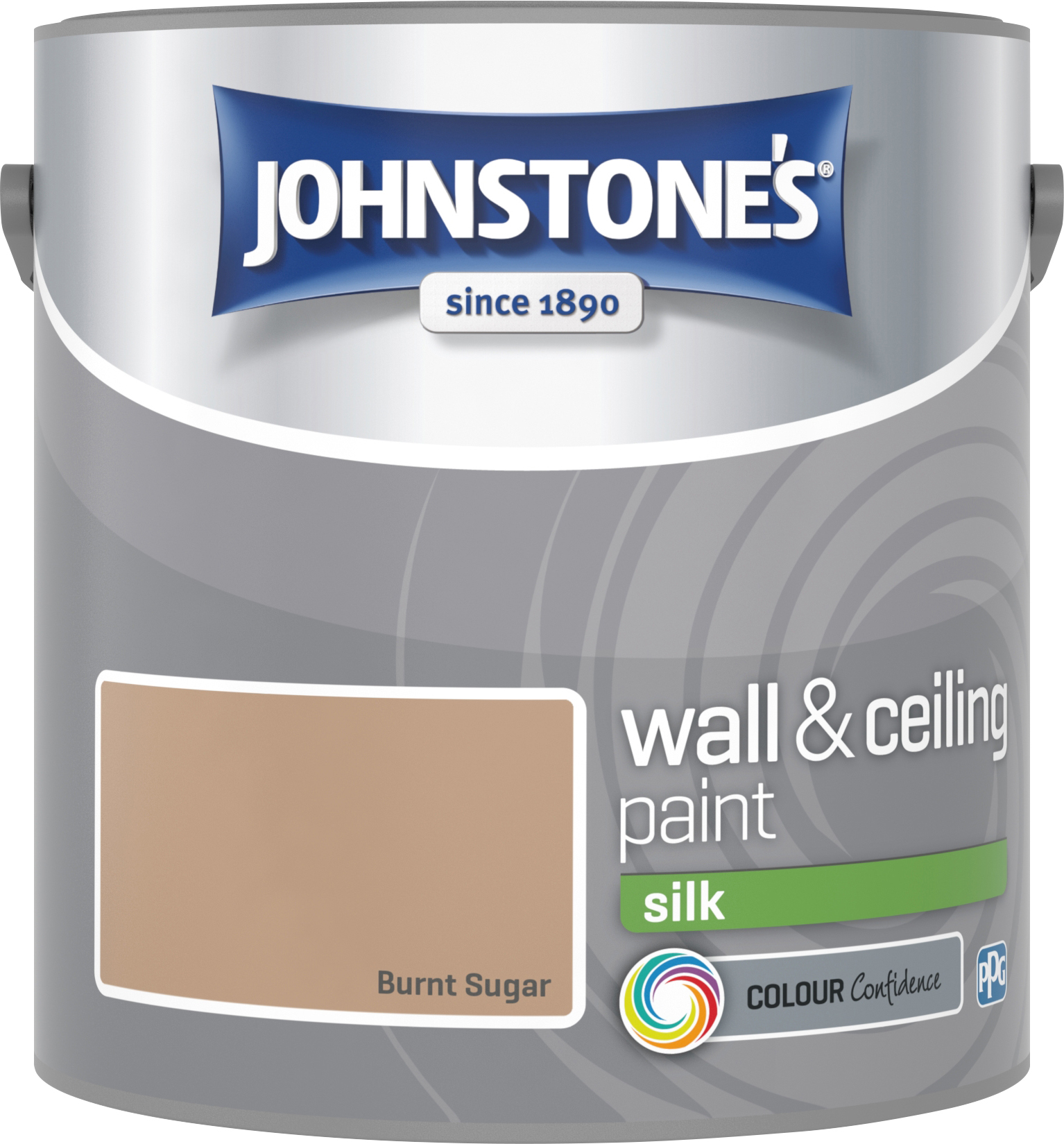 Johnstone's 306572 2.5 Litre Silk Emulsion Paint - Burnt Sugar