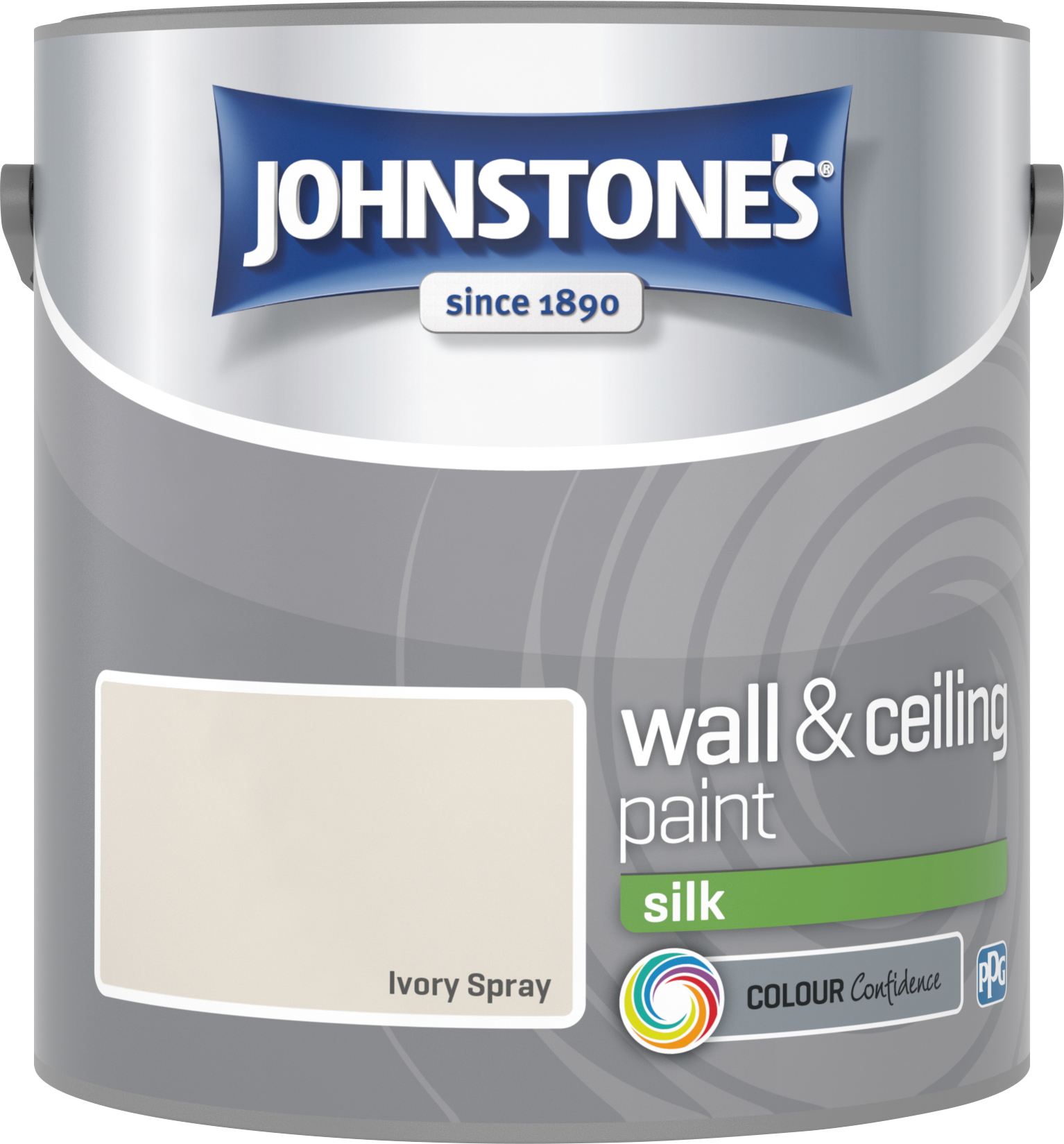 Johnstone's 306578 2.5 Litre Silk Emulsion Paint - Ivory Spray
