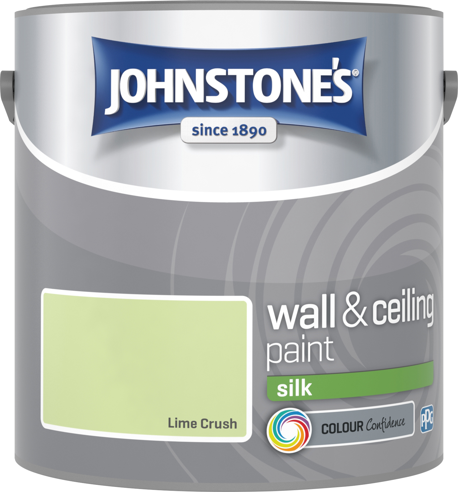 Johnstone's 306581 2.5 Litre Silk Emulsion Paint - Lime Crush