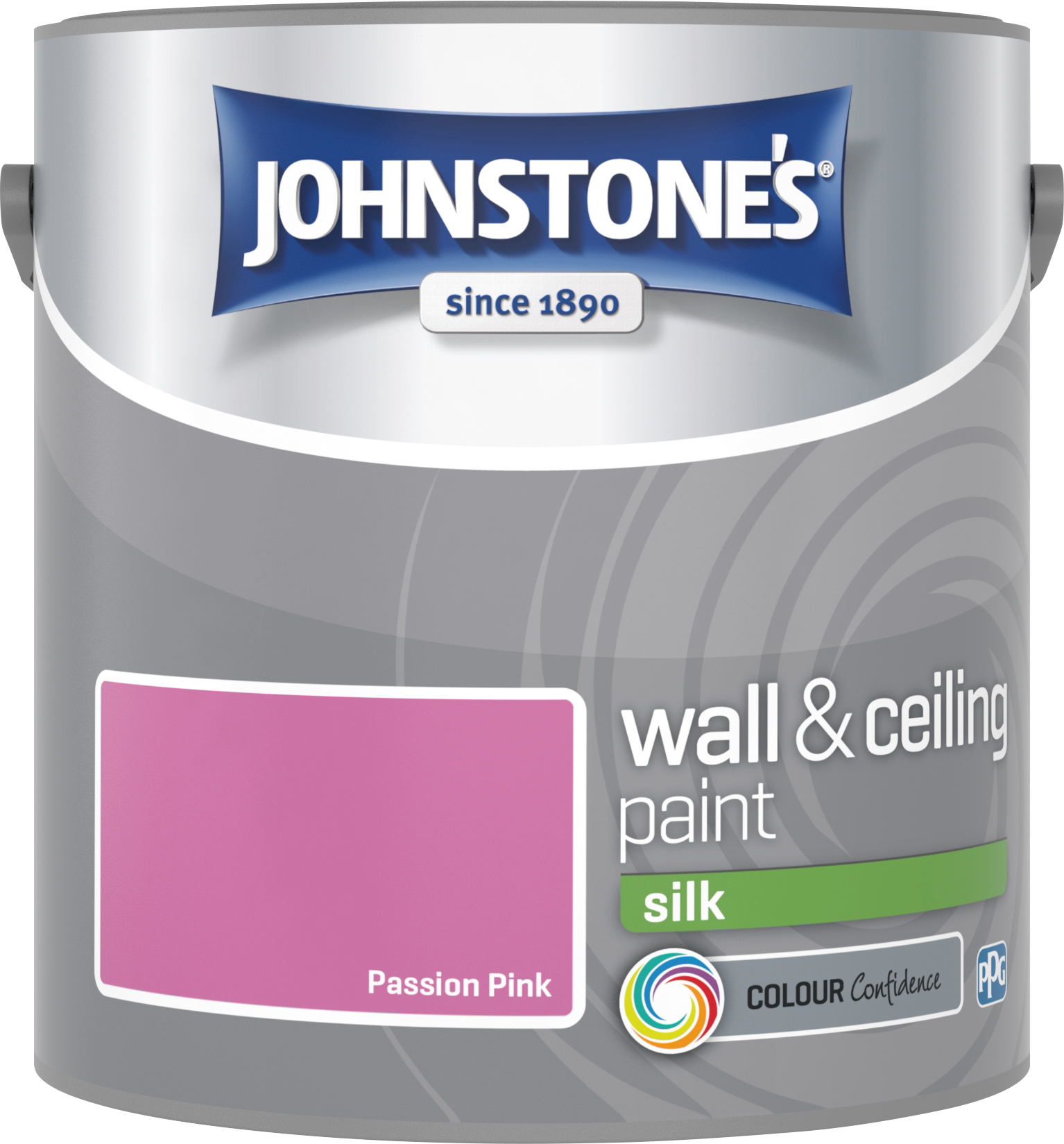 Johnstone's 306583 2.5 Litre Silk Emulsion Paint - Passion Pink