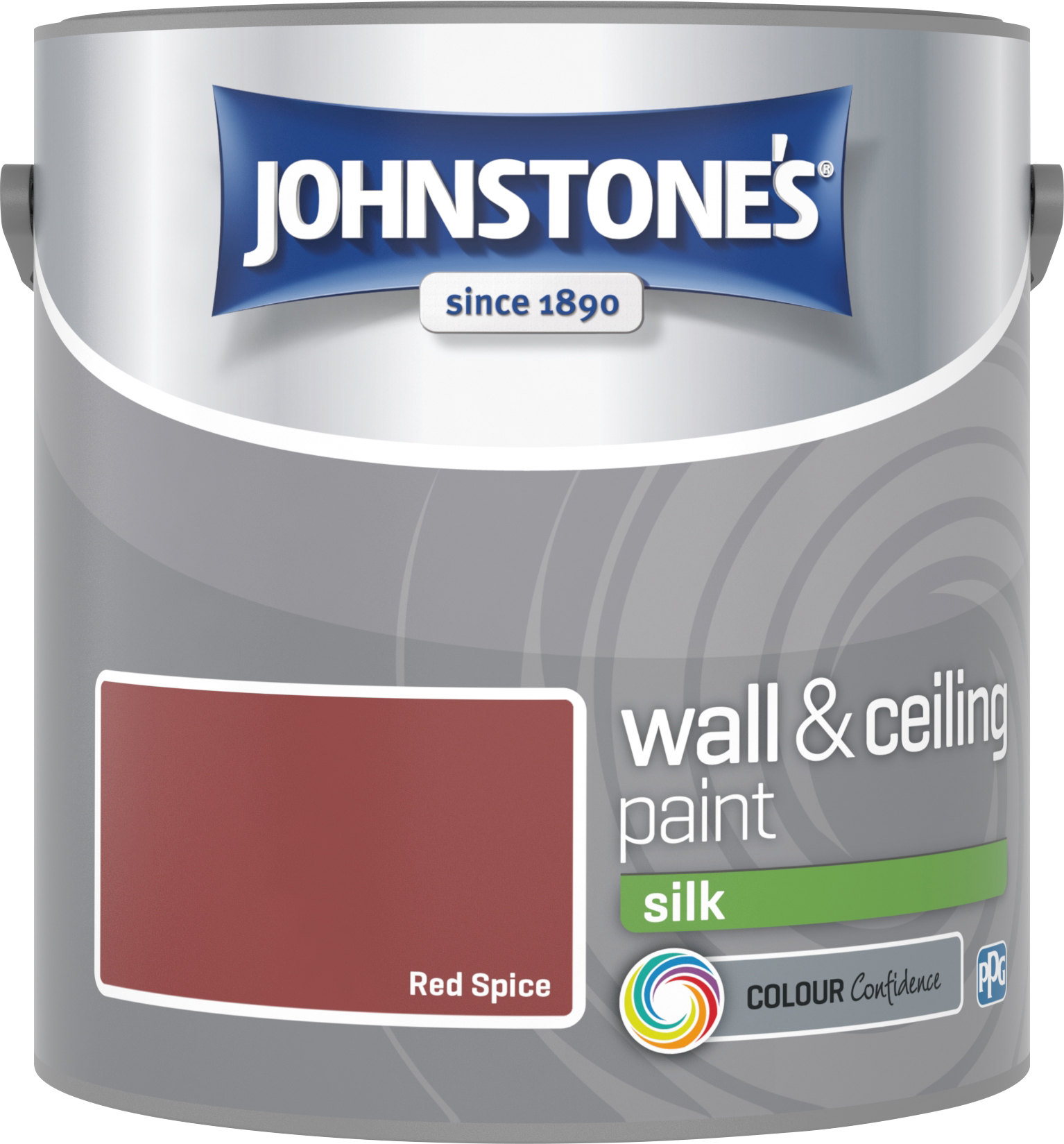 Johnstone's 306584 2.5 Litre Silk Emulsion Paint - Red Spice