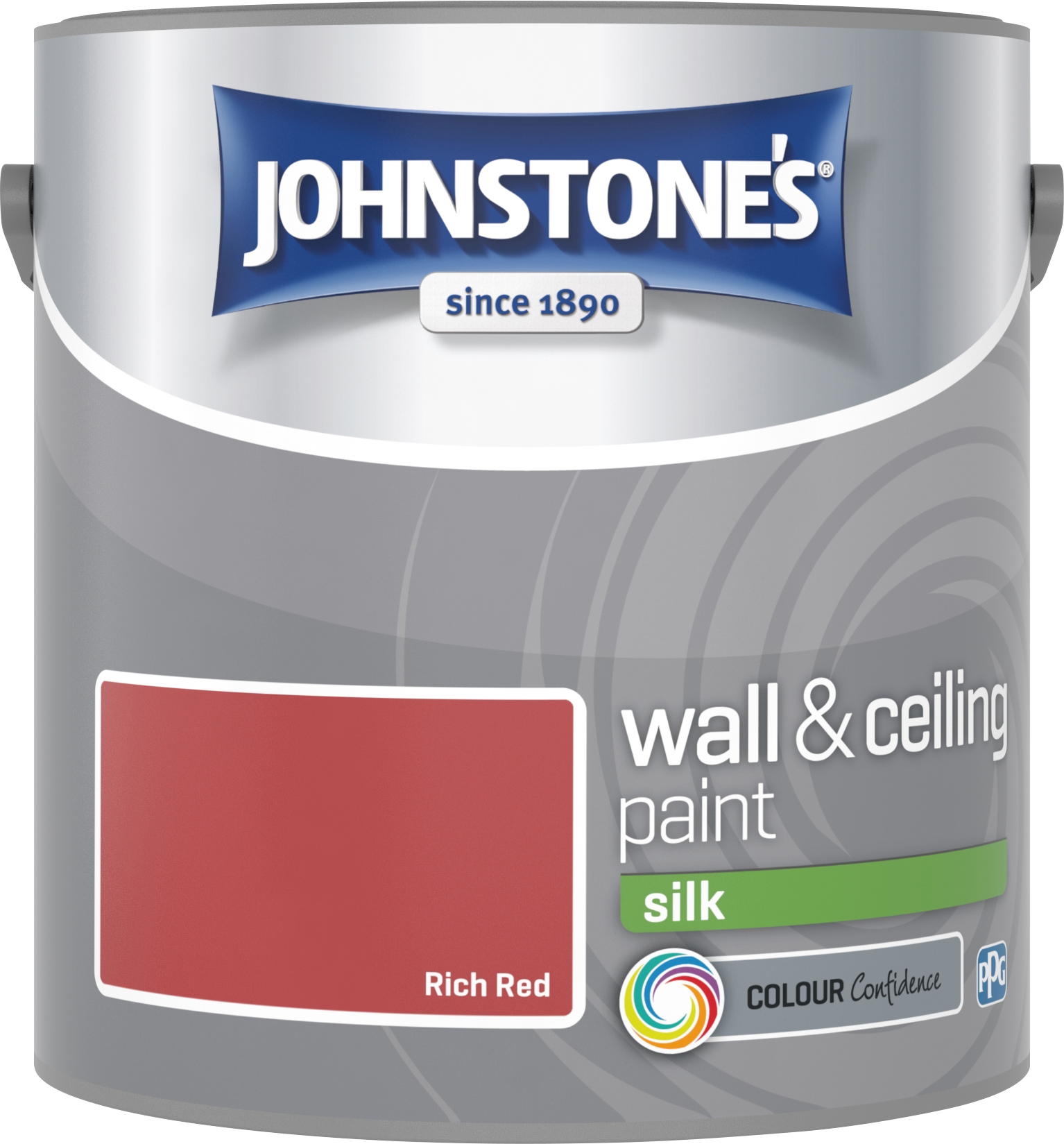 Johnstone's 306585 2.5 Litre Silk Emulsion Paint - Rich Red