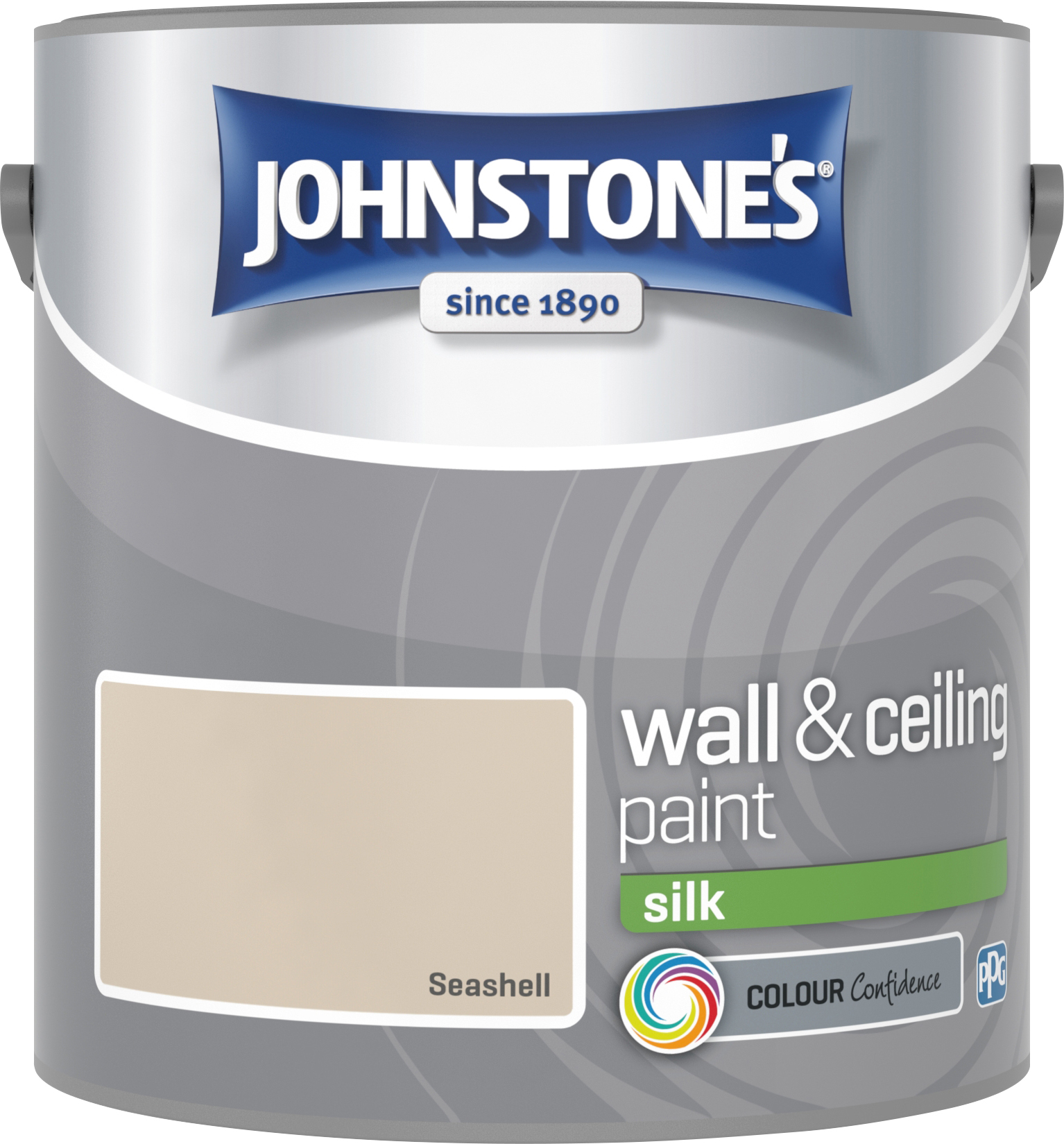 Johnstone's 306586 2.5 Litre Silk Emulsion Paint - Seashell