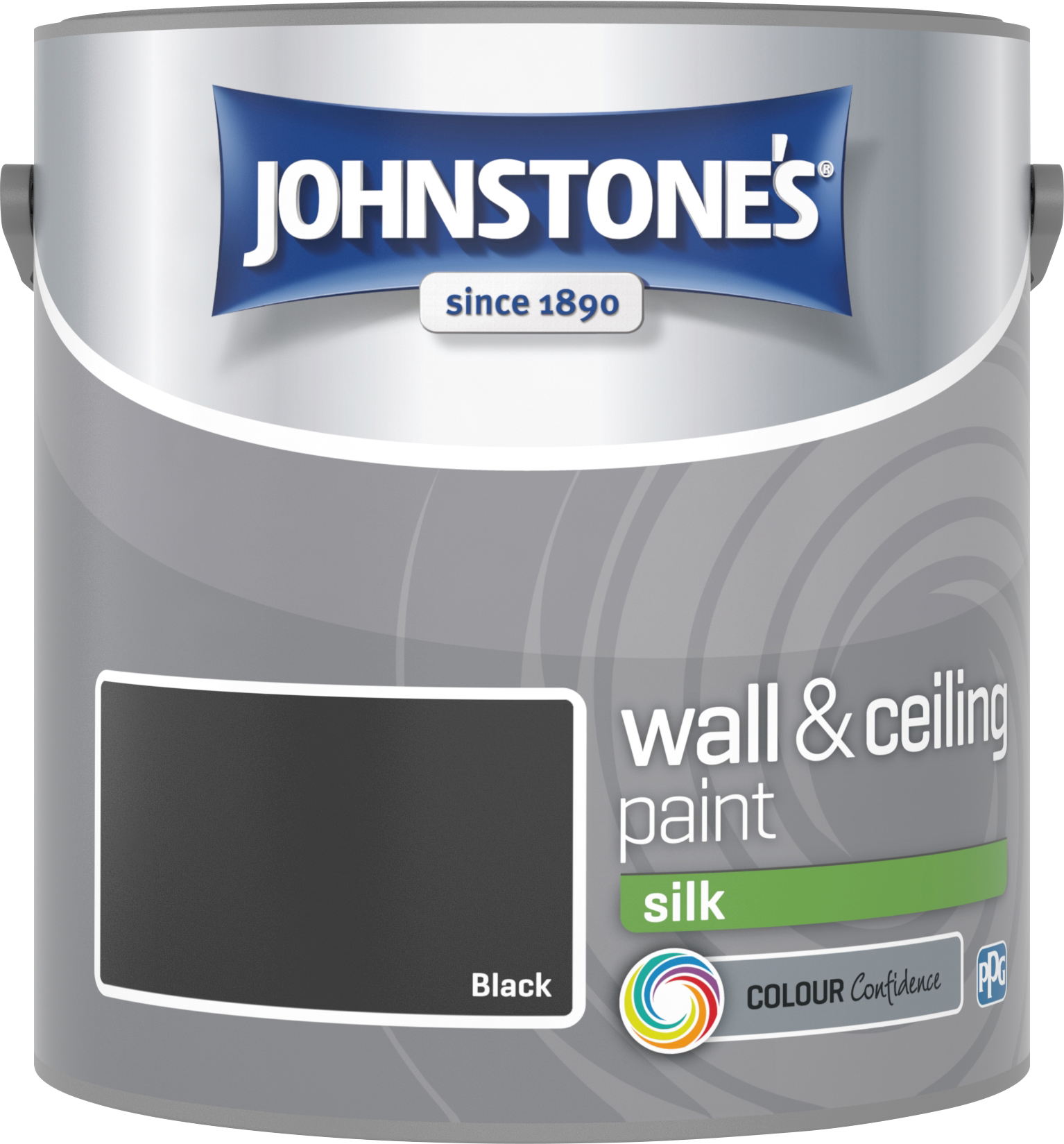 Johnstone's 306592 2.5 Litre Silk Emulsion Paint - Black