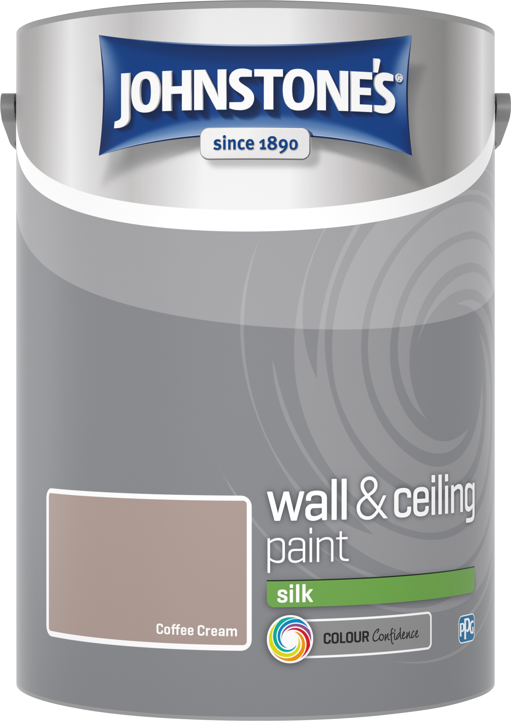 Johnstone's 306597 5 Litre Silk Emulsion Paint - Coffee Cream