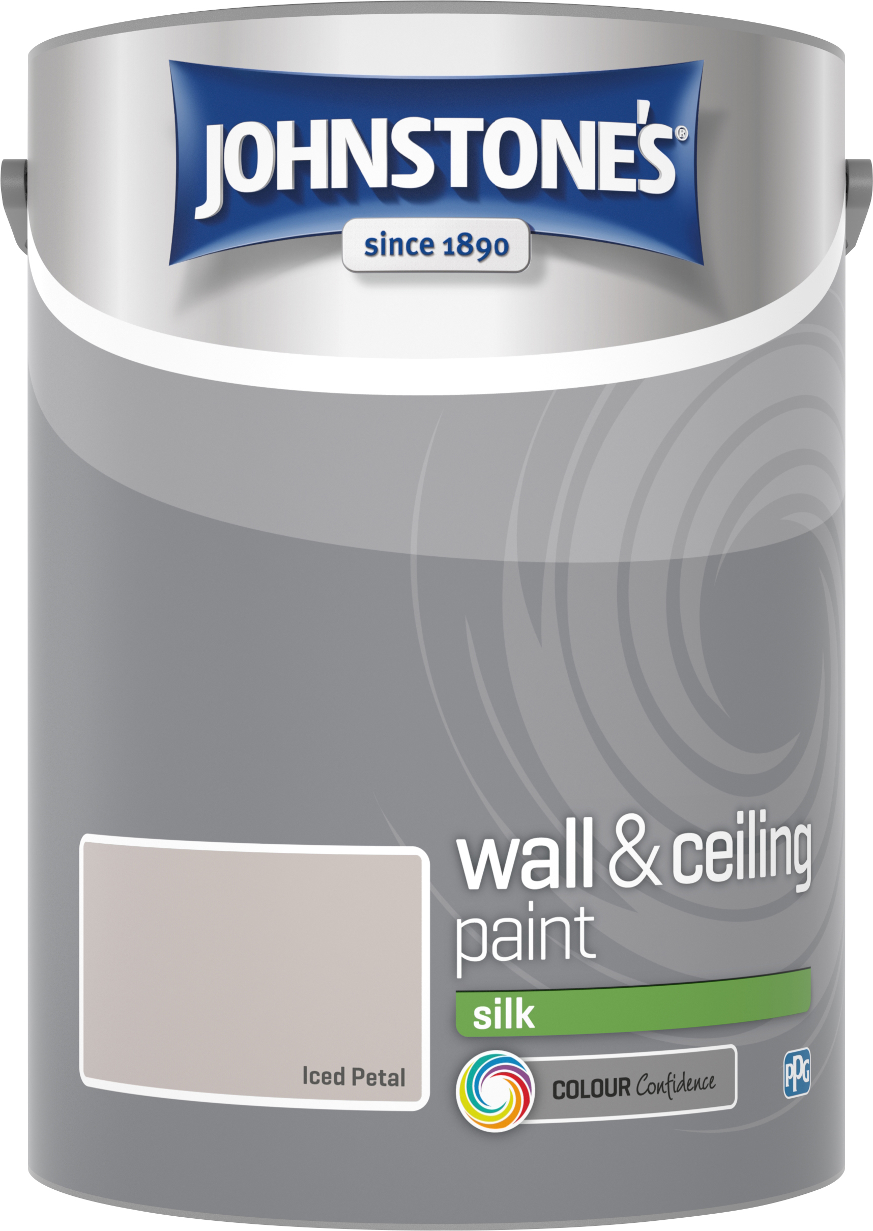 Johnstone's 306600 5 Litre Silk Emulsion Paint - Iced Petal
