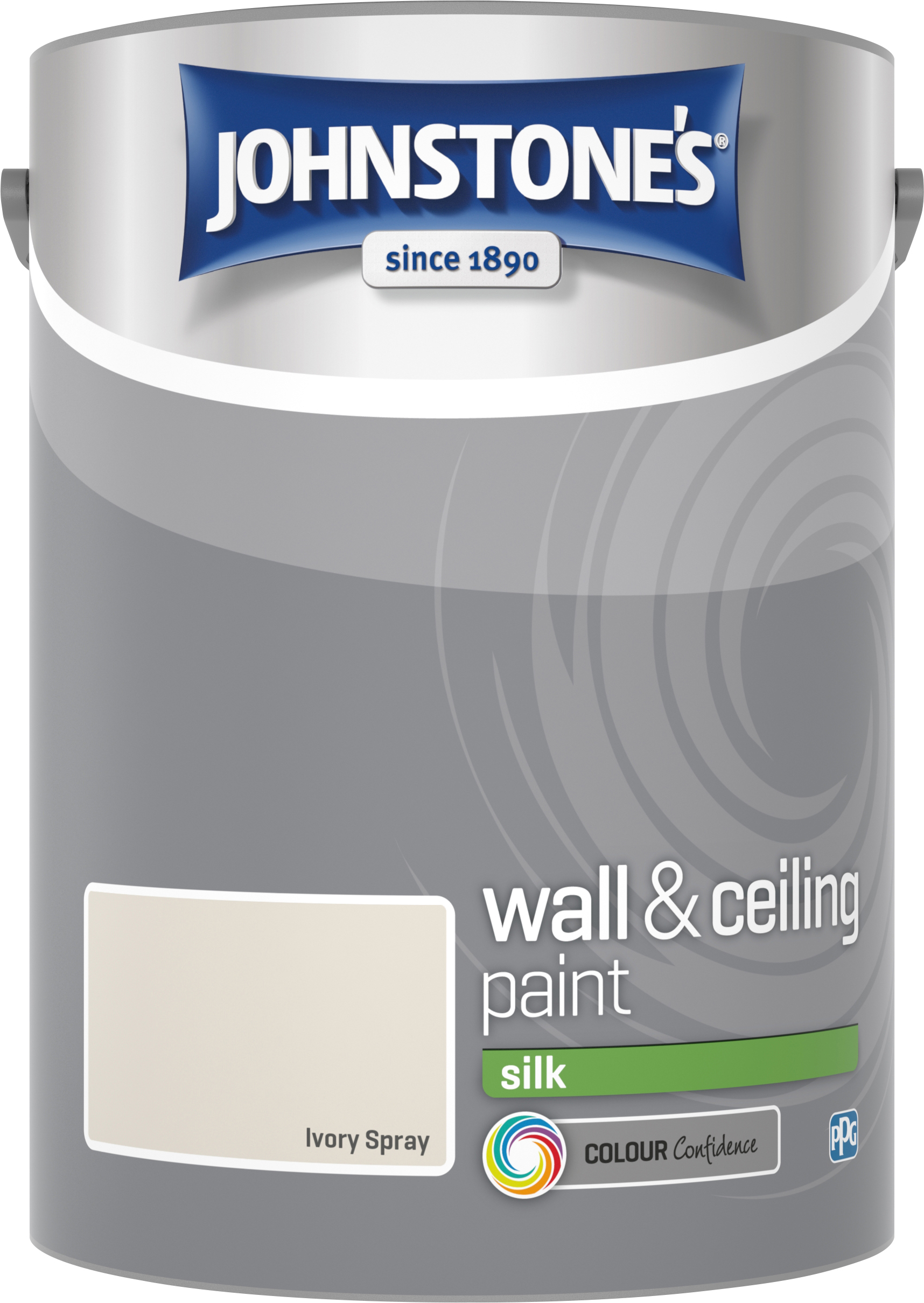 Johnstone's 306601 5 Litre Silk Emulsion Paint - Ivory Spray