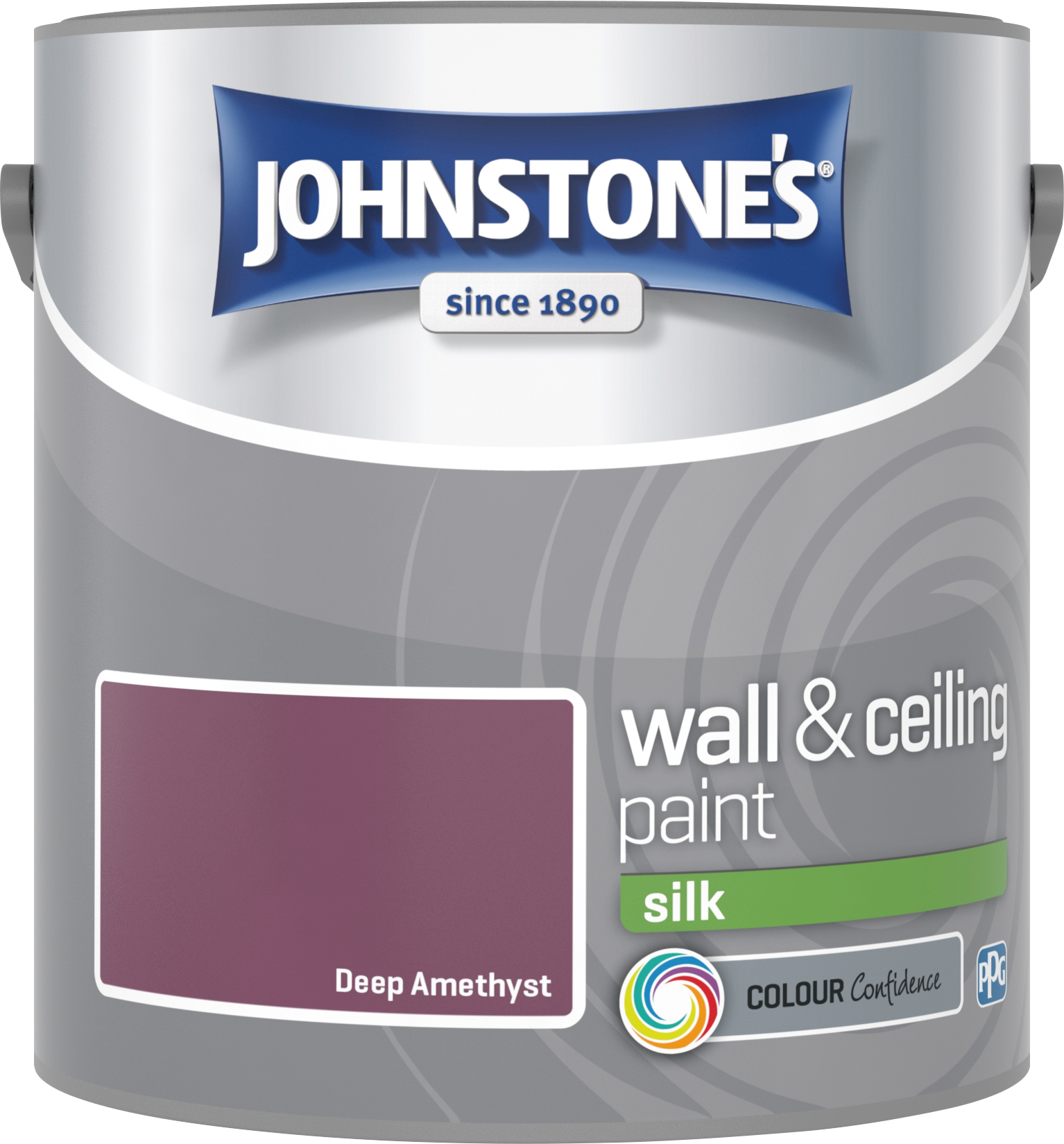 Johnstone's 307069 2.5 Litre Silk Emulsion Paint - Deep Amethyst