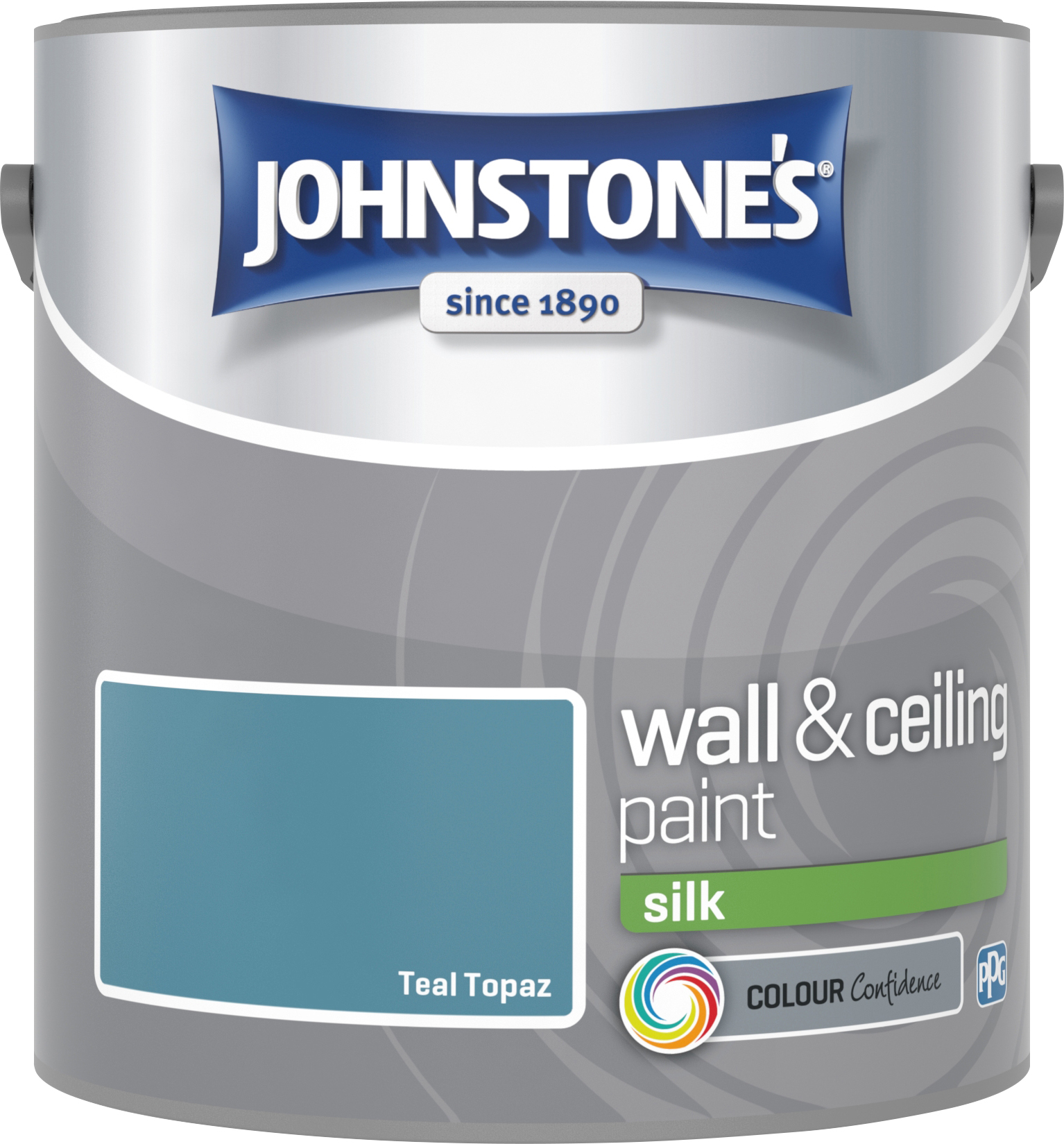 Johnstone's 307074 2.5 Litre Silk Emulsion Paint - Teal Topaz