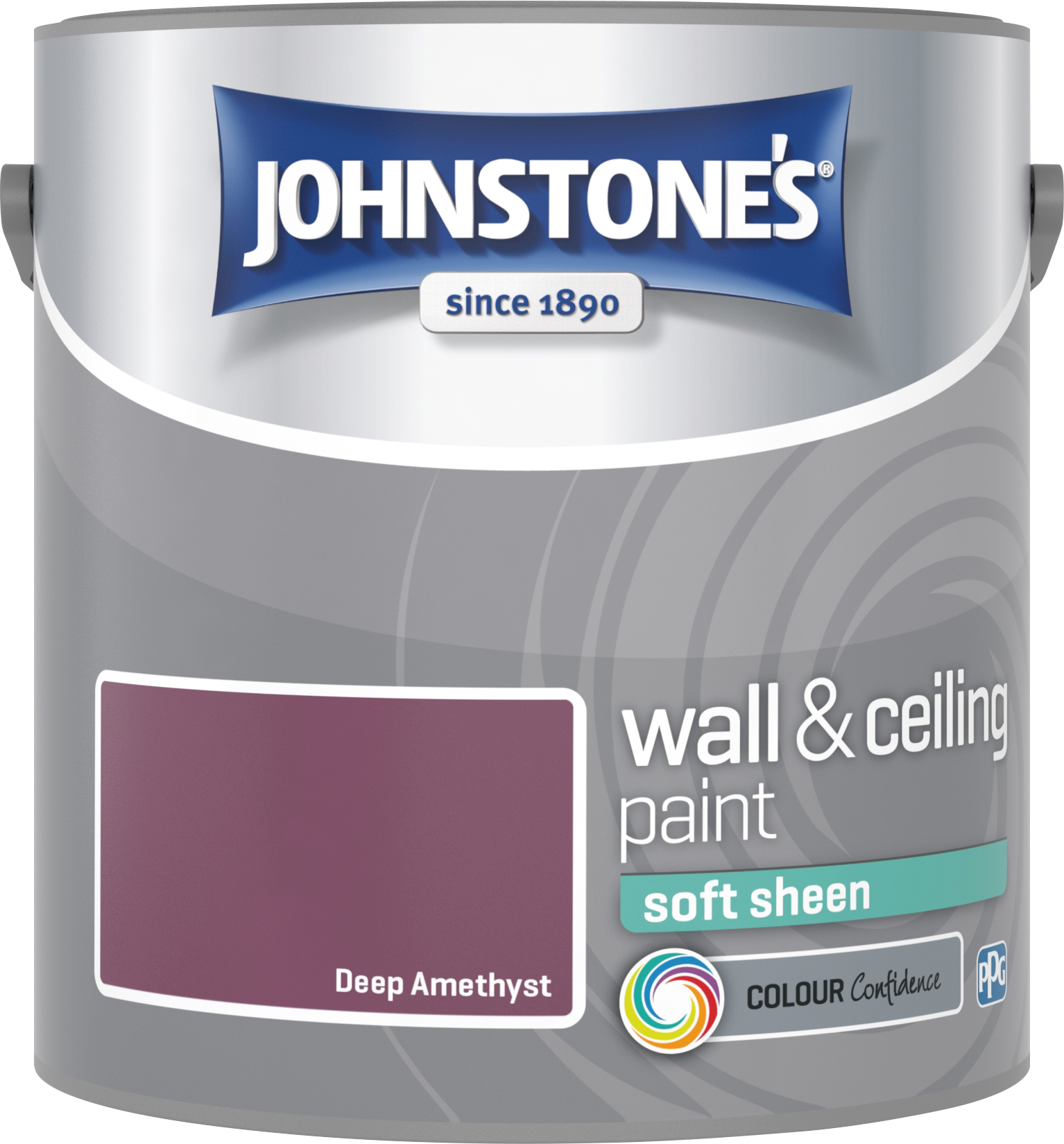 Johnstone's 307086 2.5 Litre Soft Sheen Emulsion Paint - Deep Amethyst