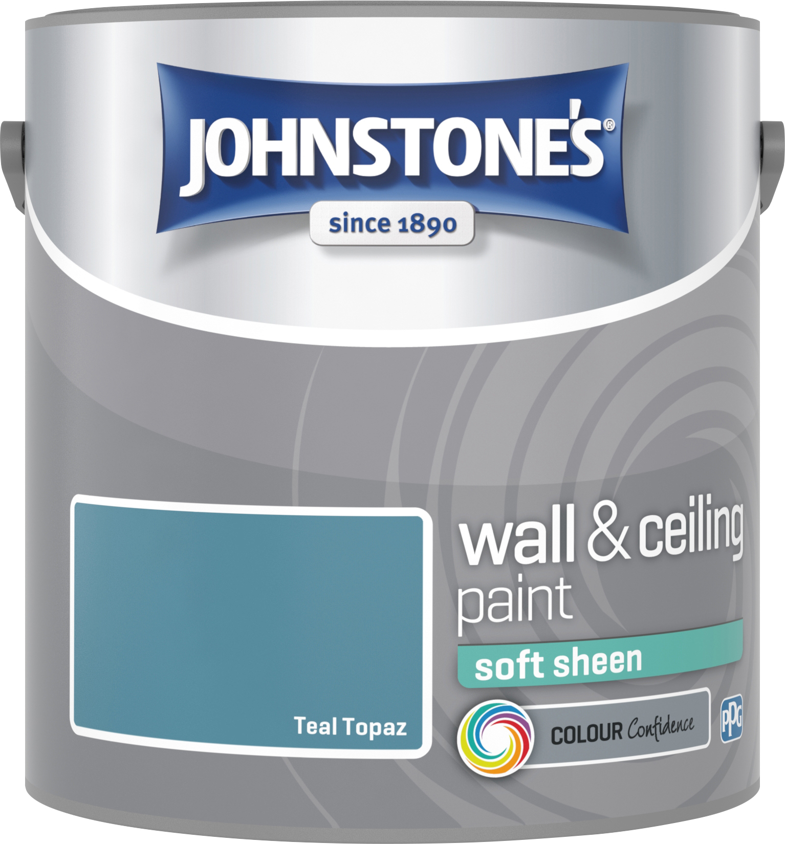 Johnstone's 307088 2.5 Litre Soft Sheen Emulsion - Teal Topaz