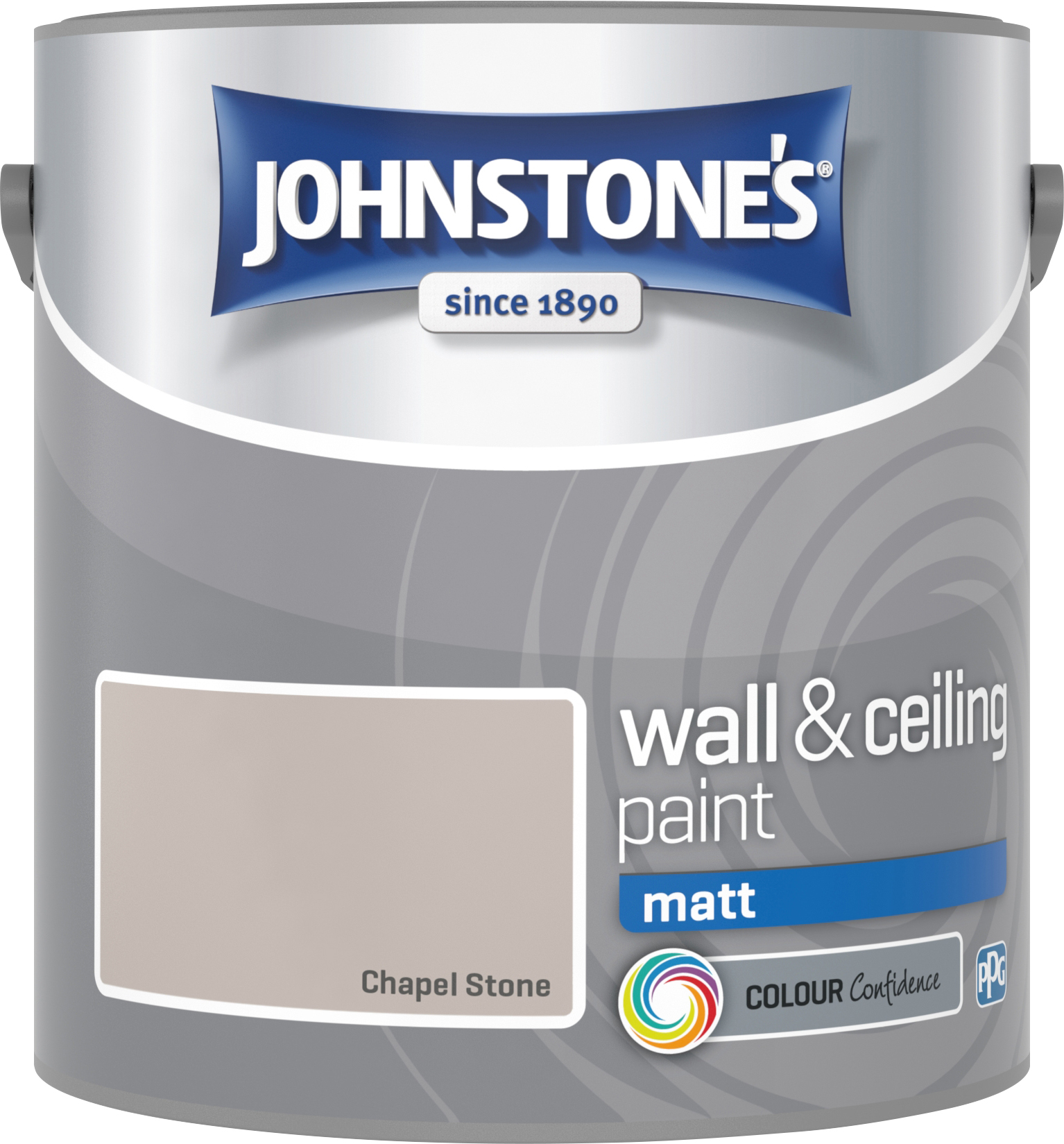 Johnstone's 307092 2.5 Litre Matt Emulsion Paint - Chapel Stone