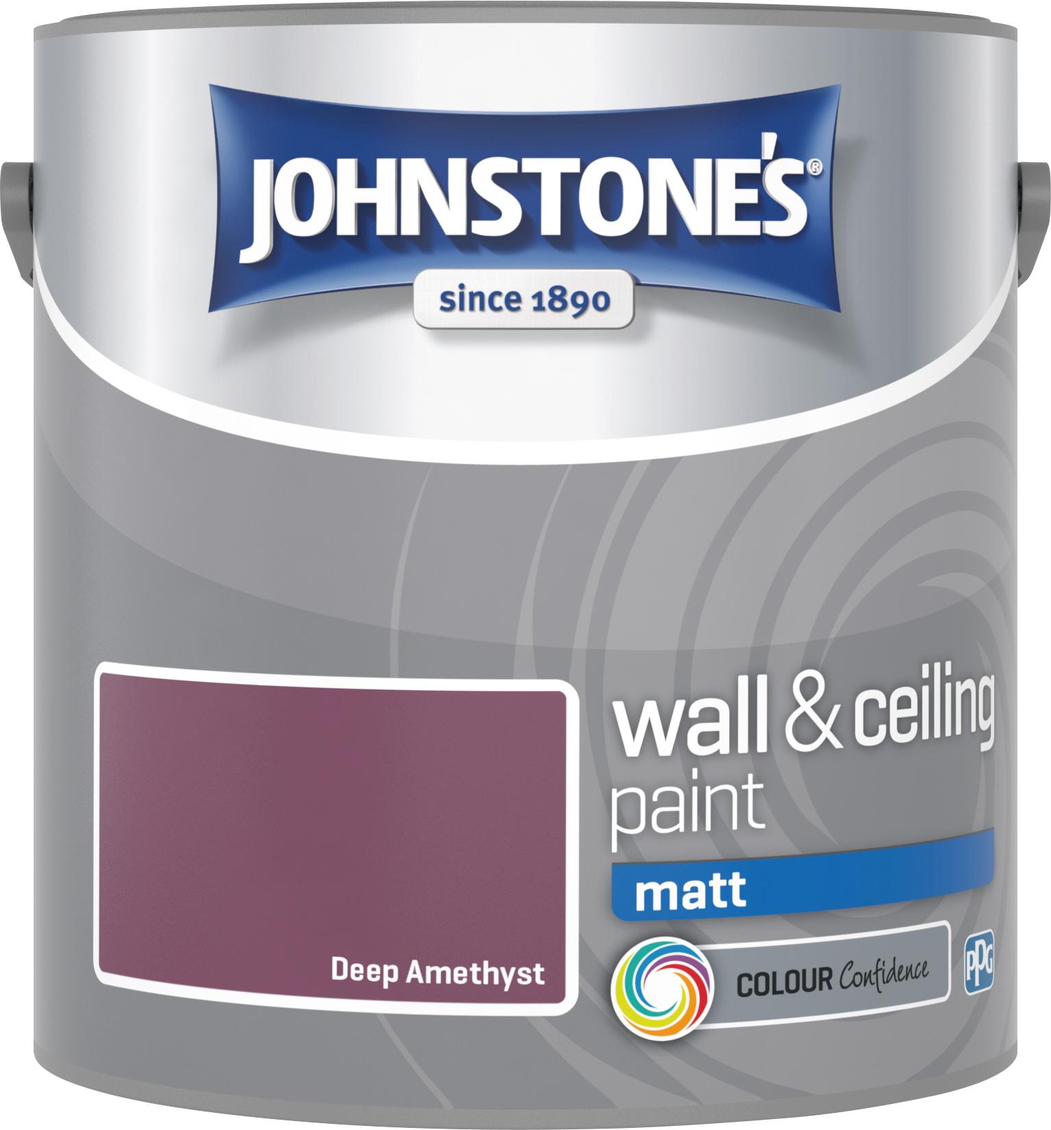 Johnstone's 307093 2.5 Litre Matt Emulsion Paint - Deep Amethyst