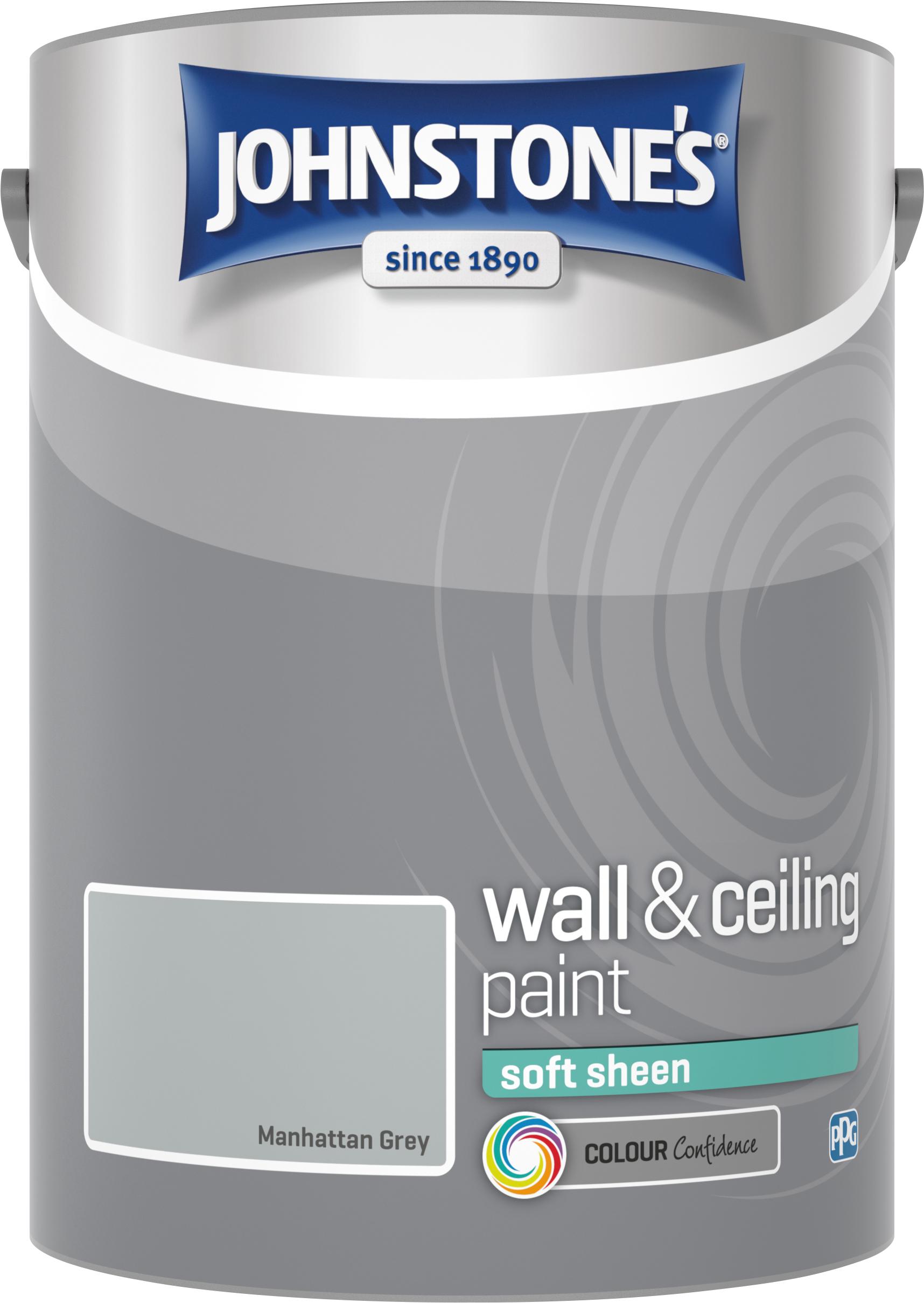 Johnstone's 307783 5 Litre Soft Sheen Emulsion Paint - Manhattan Grey