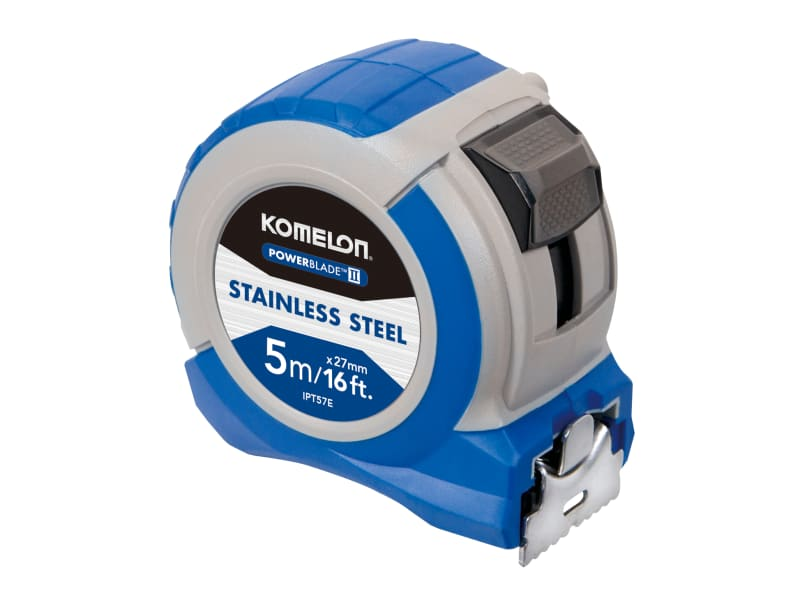 Komelon Stainless Steel PowerBlade™ Pocket Tape 5m/16ft (Width 27mm)