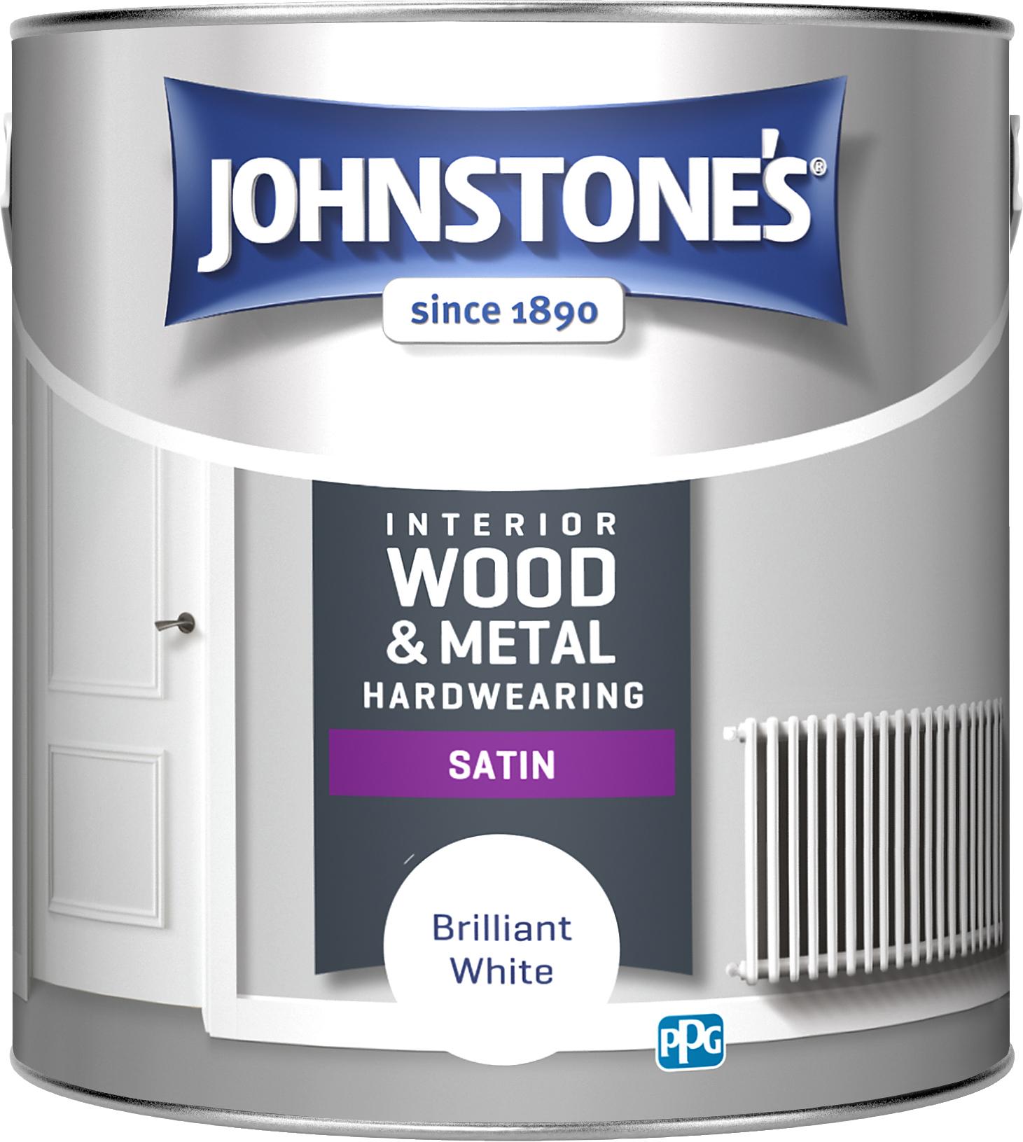 Johnstones 2.5 Litre Hardwearing Satin - Brilliant White