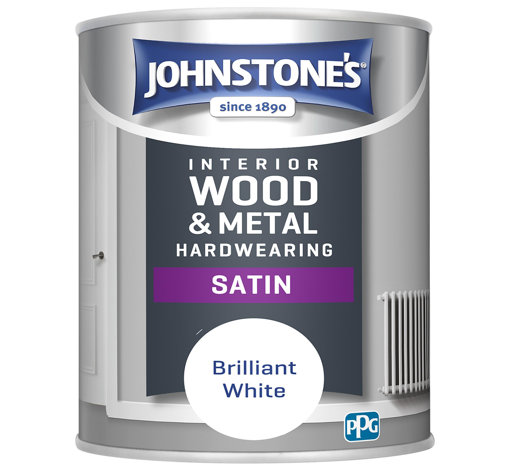 Johnstones 750ml Hardwearing Satin - Brilliant White
